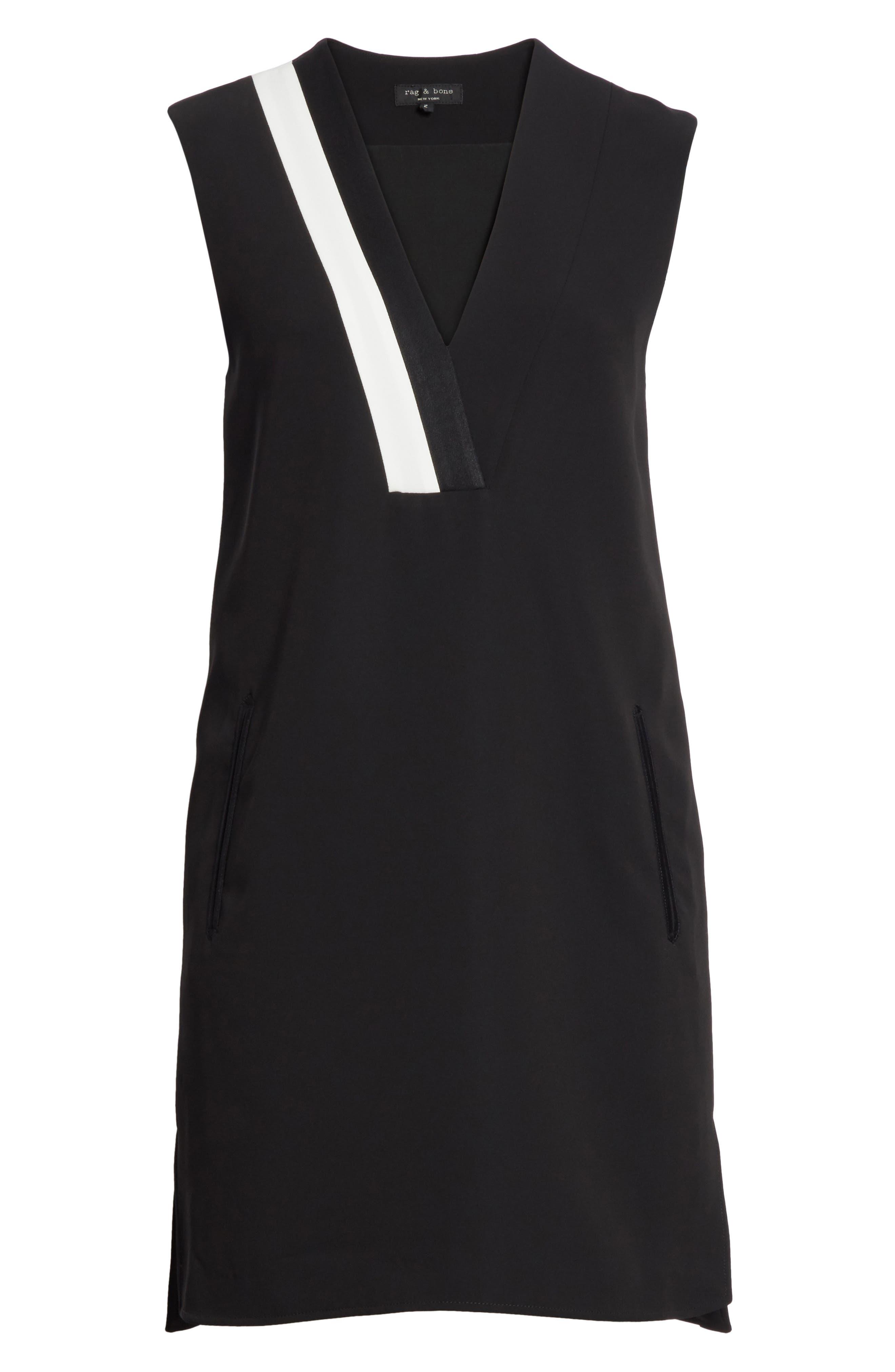 Lodwick Dress,                             Alternate thumbnail 6, color,                             Black