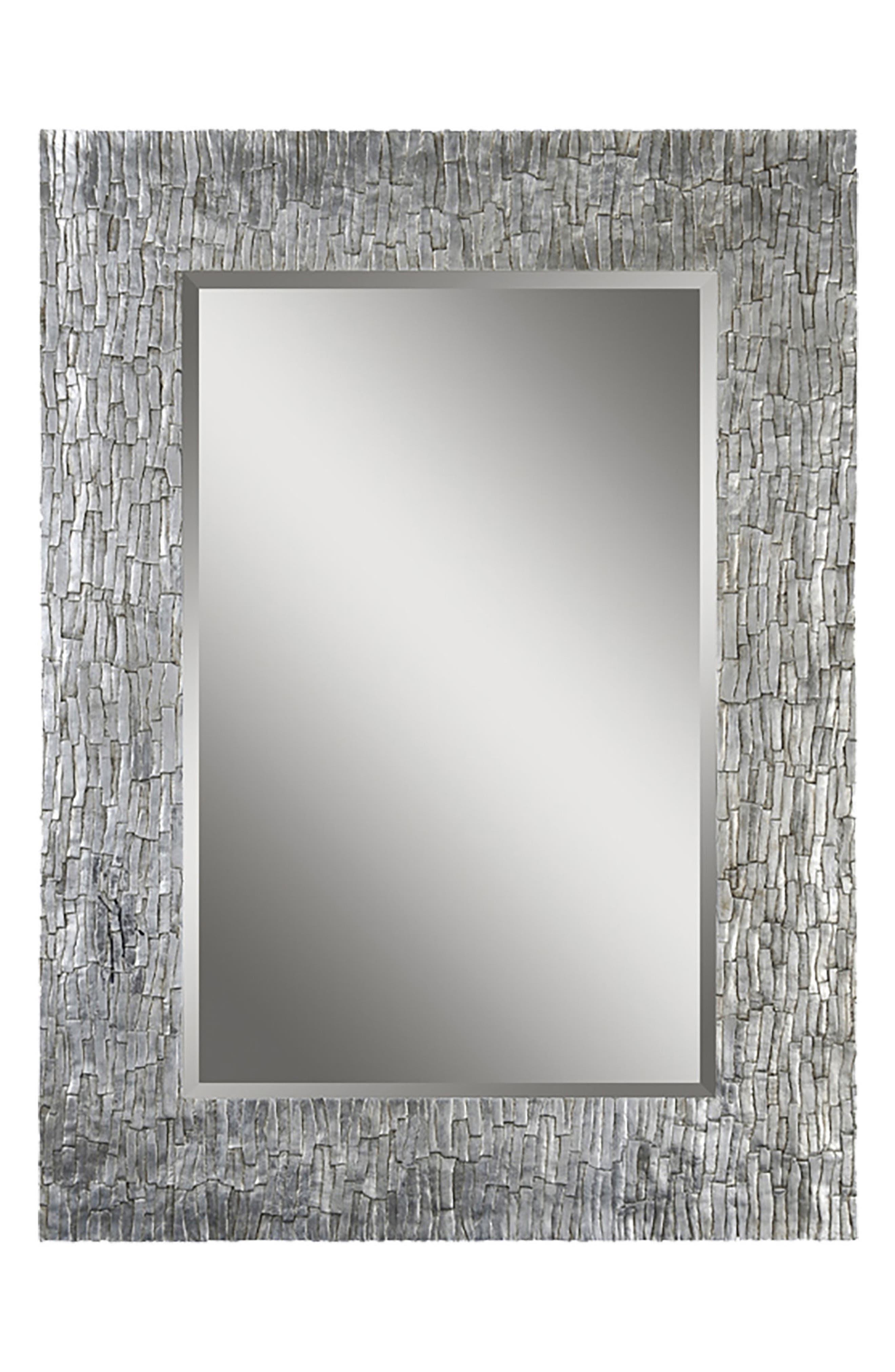 Santa Fe Mirror,                         Main,                         color, Silver Leaf/ Bark Texture