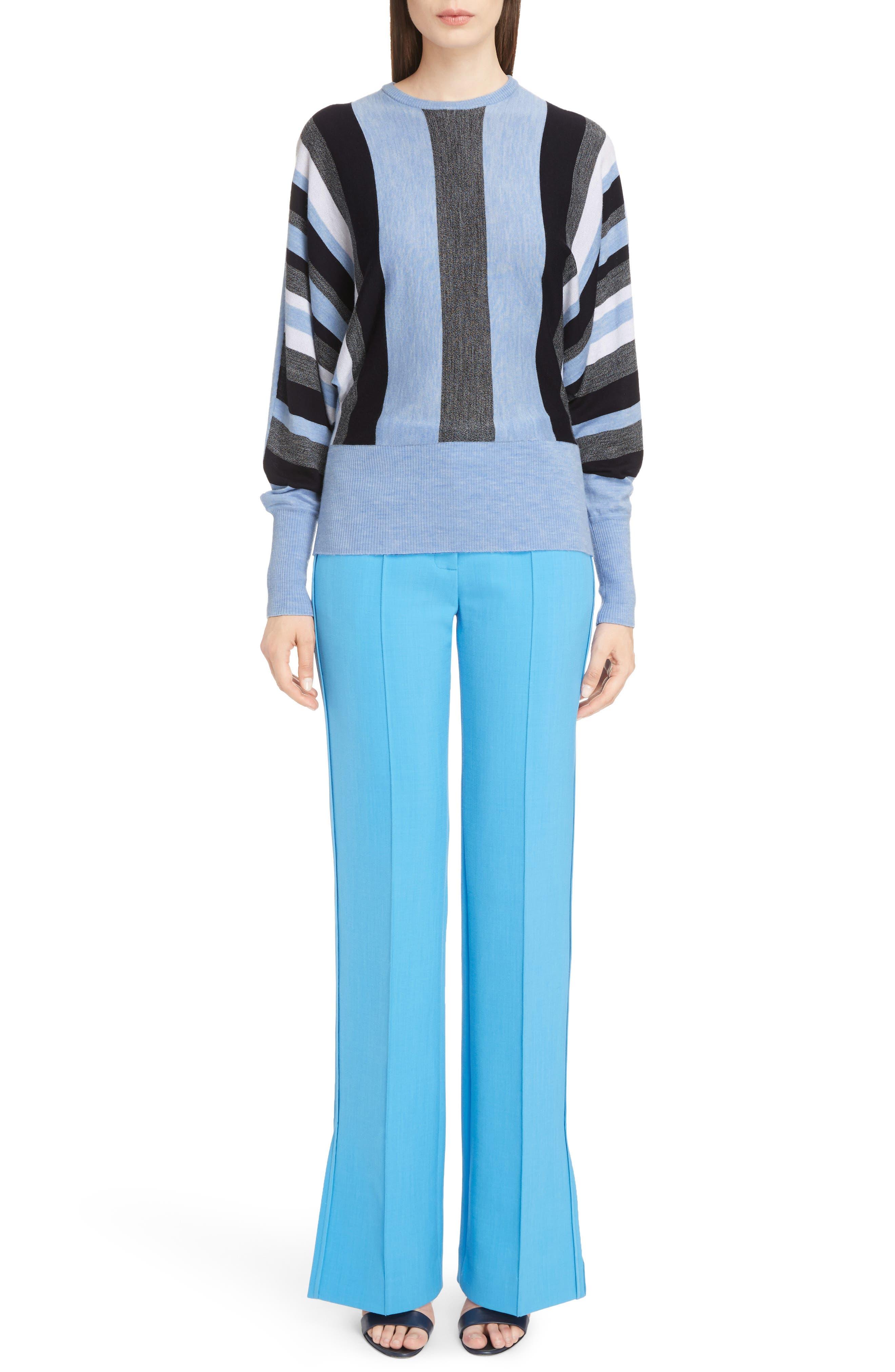 Alternate Image 2  - Victoria, Victoria Beckham Stripe Wool Dolman Sweater