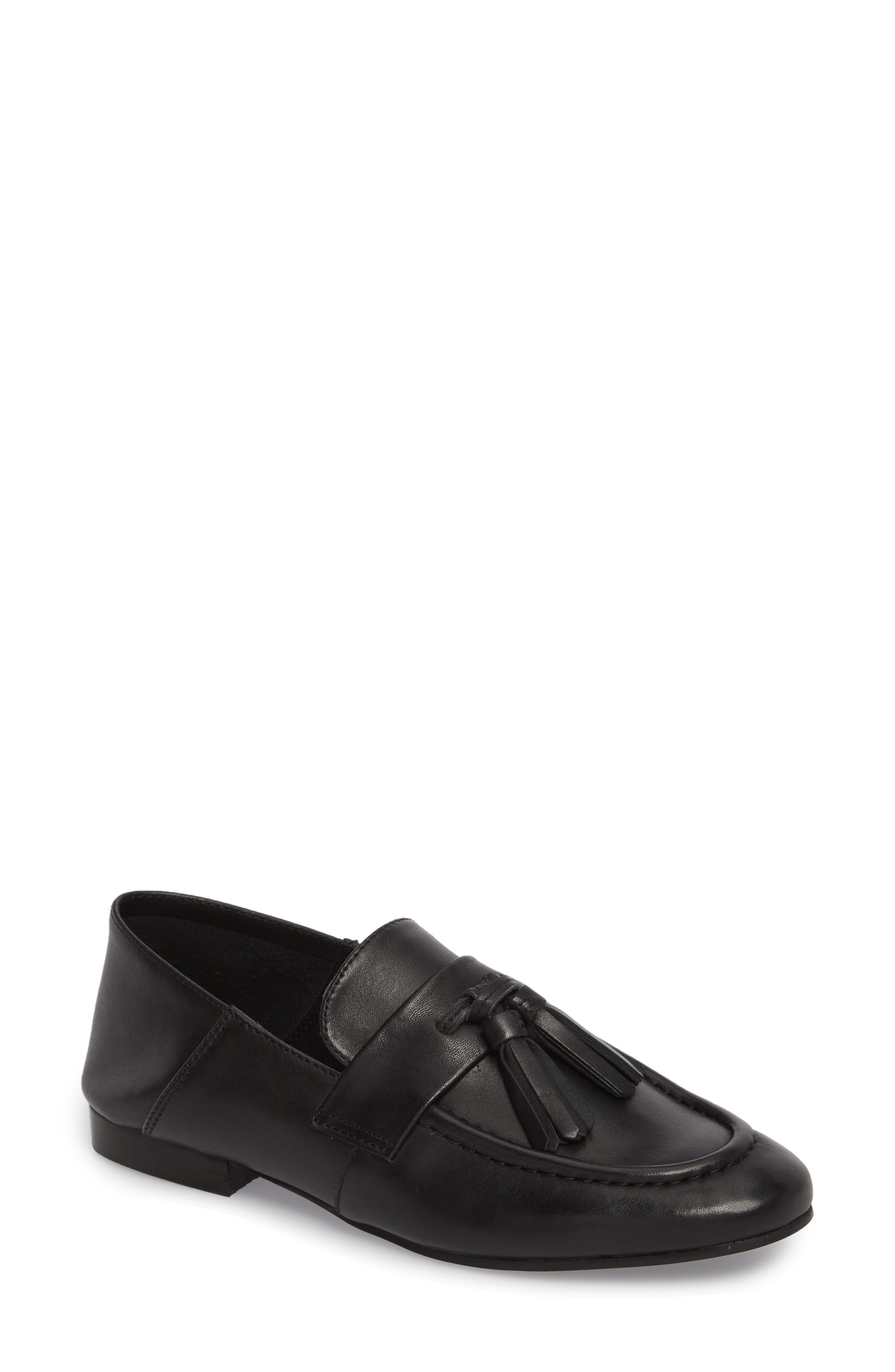 Beck Convertible Tasseled Loafer,                             Main thumbnail 1, color,                             Black Leather