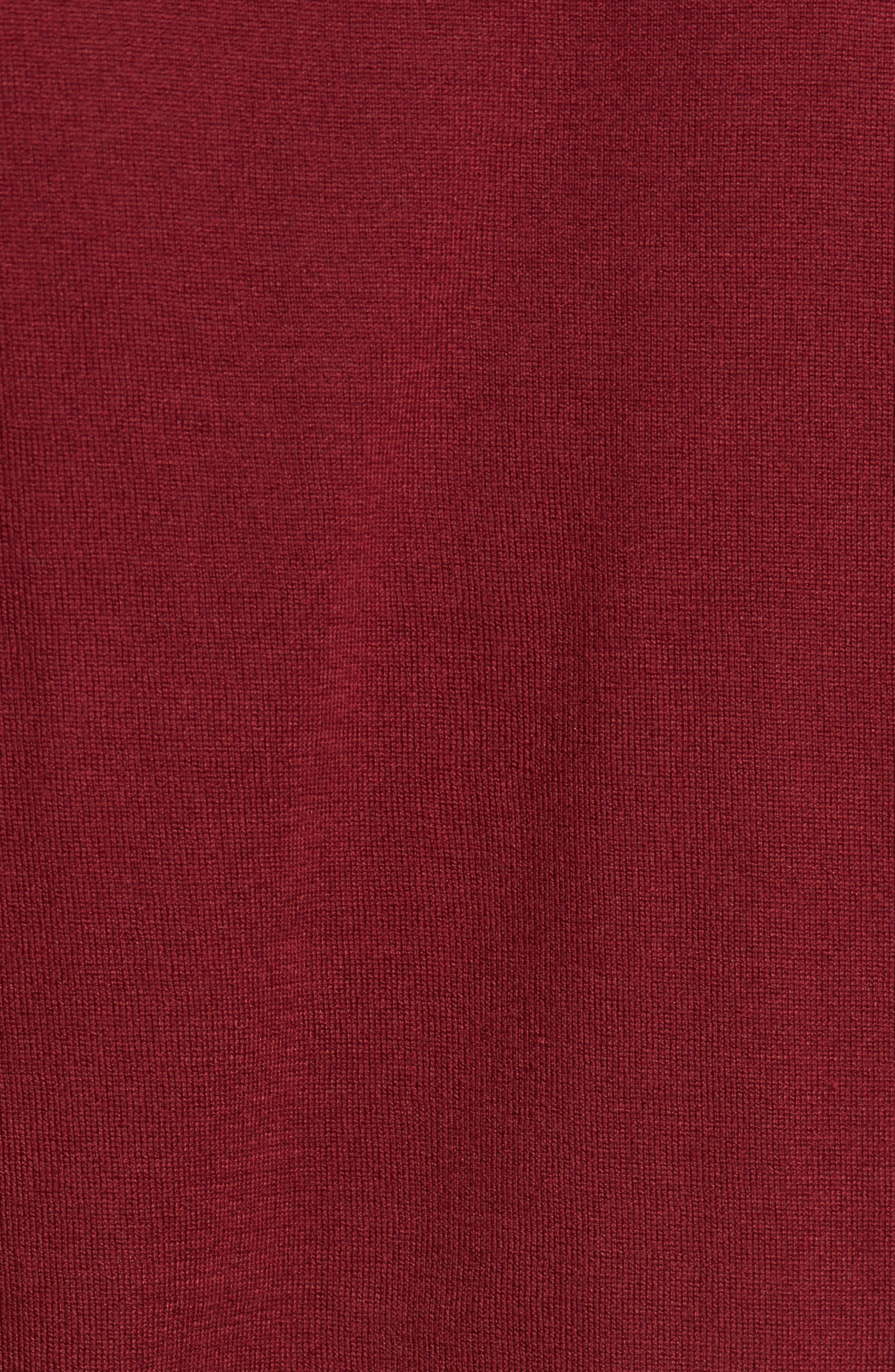 Jersey Polo,                             Alternate thumbnail 5, color,                             Burgundy Grain