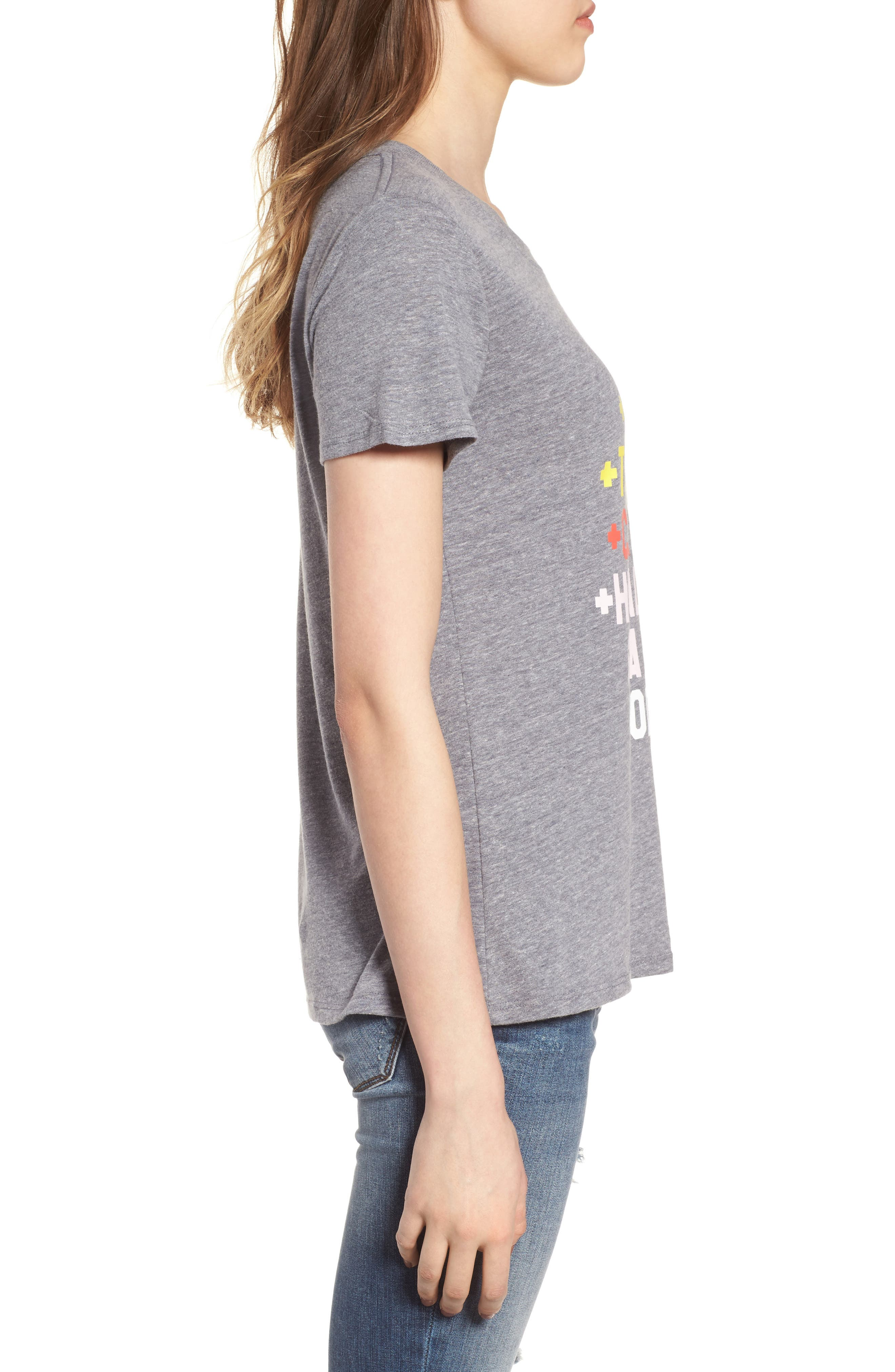 Lemon Ginger Loose Tee,                             Alternate thumbnail 3, color,                             Heather Grey