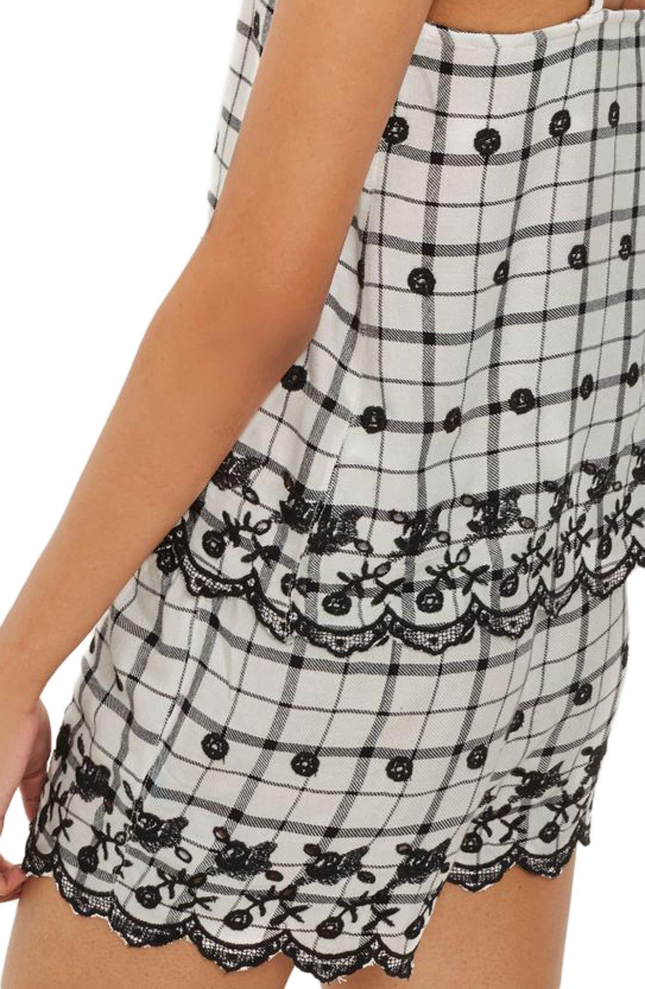 Alternate Image 2  - Topshop Embroidered Pajama Shorts