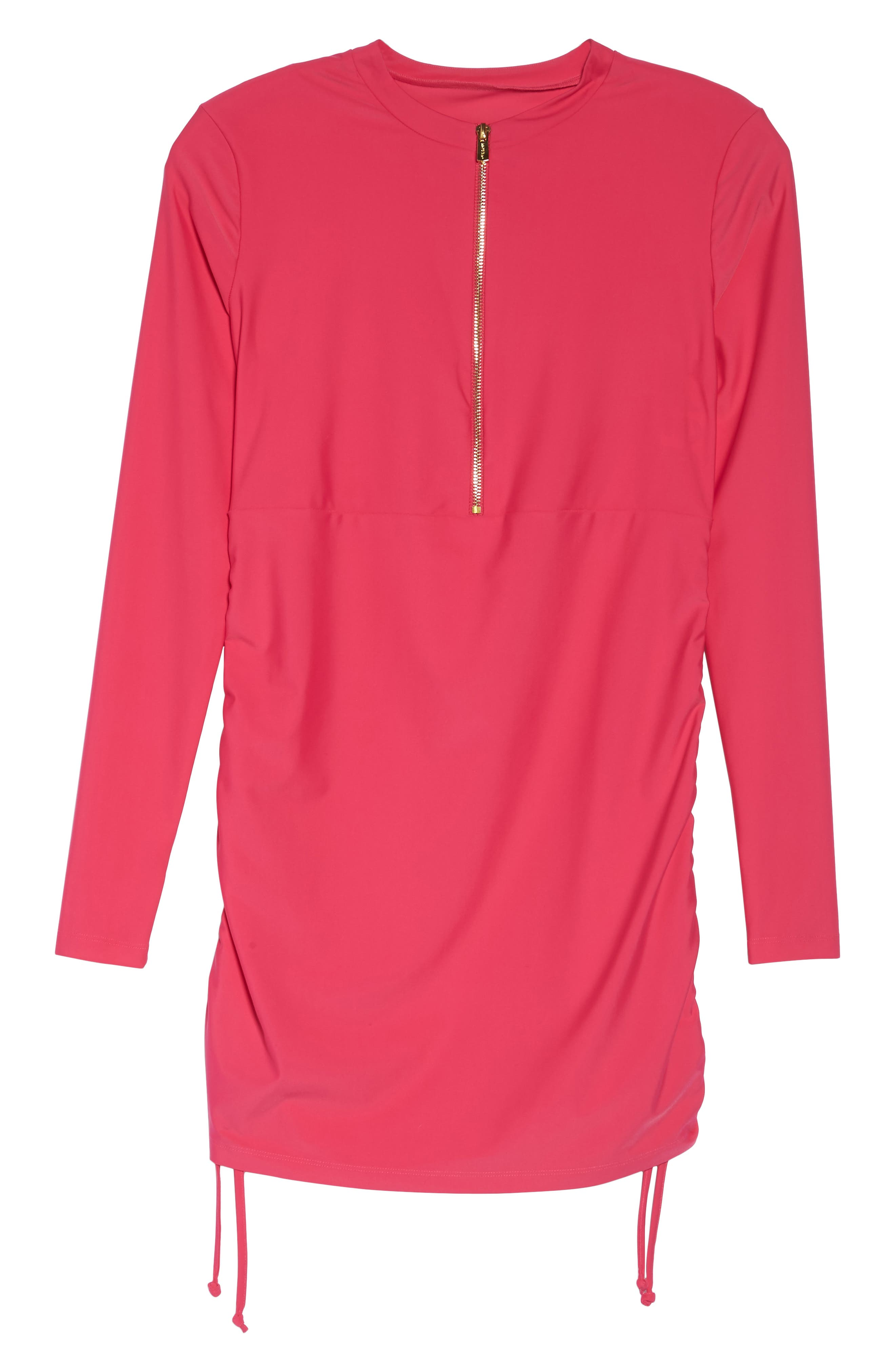 Sonja UPF 50 Cover-Up Swim Dress,                             Alternate thumbnail 6, color,                             Fuchsia