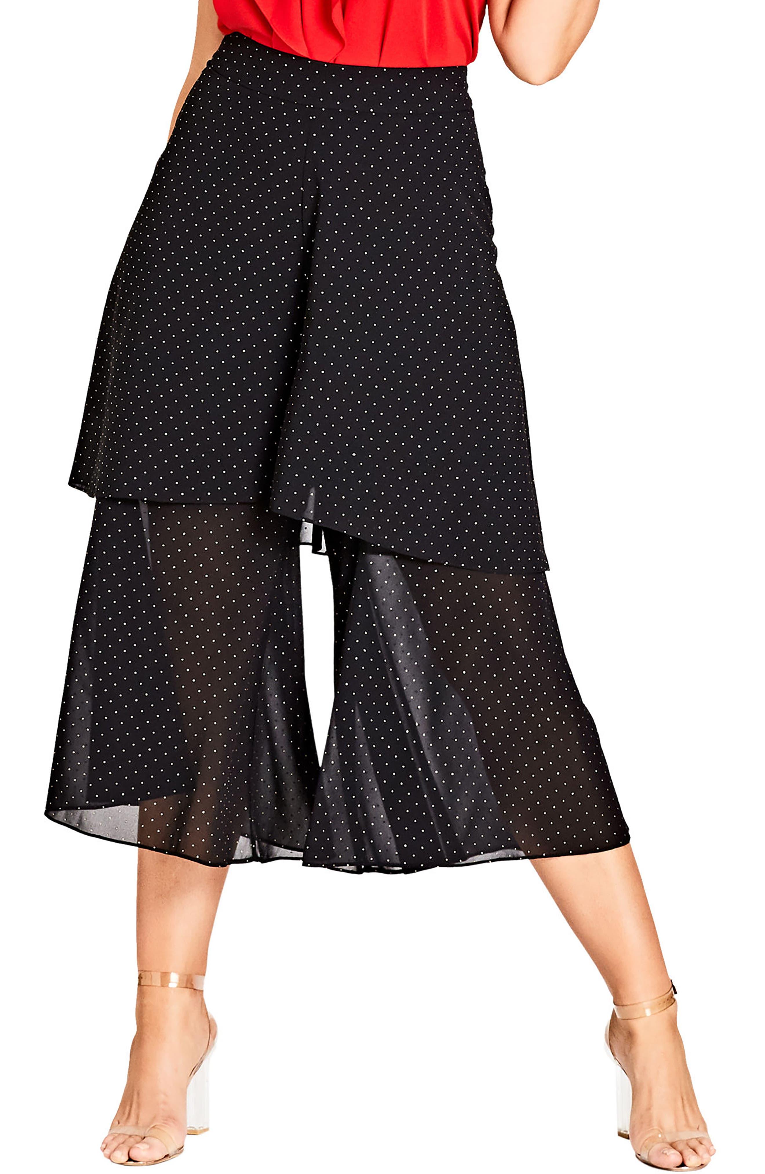 Main Image - City Chic Flirty Fling Pants (Plus Size)