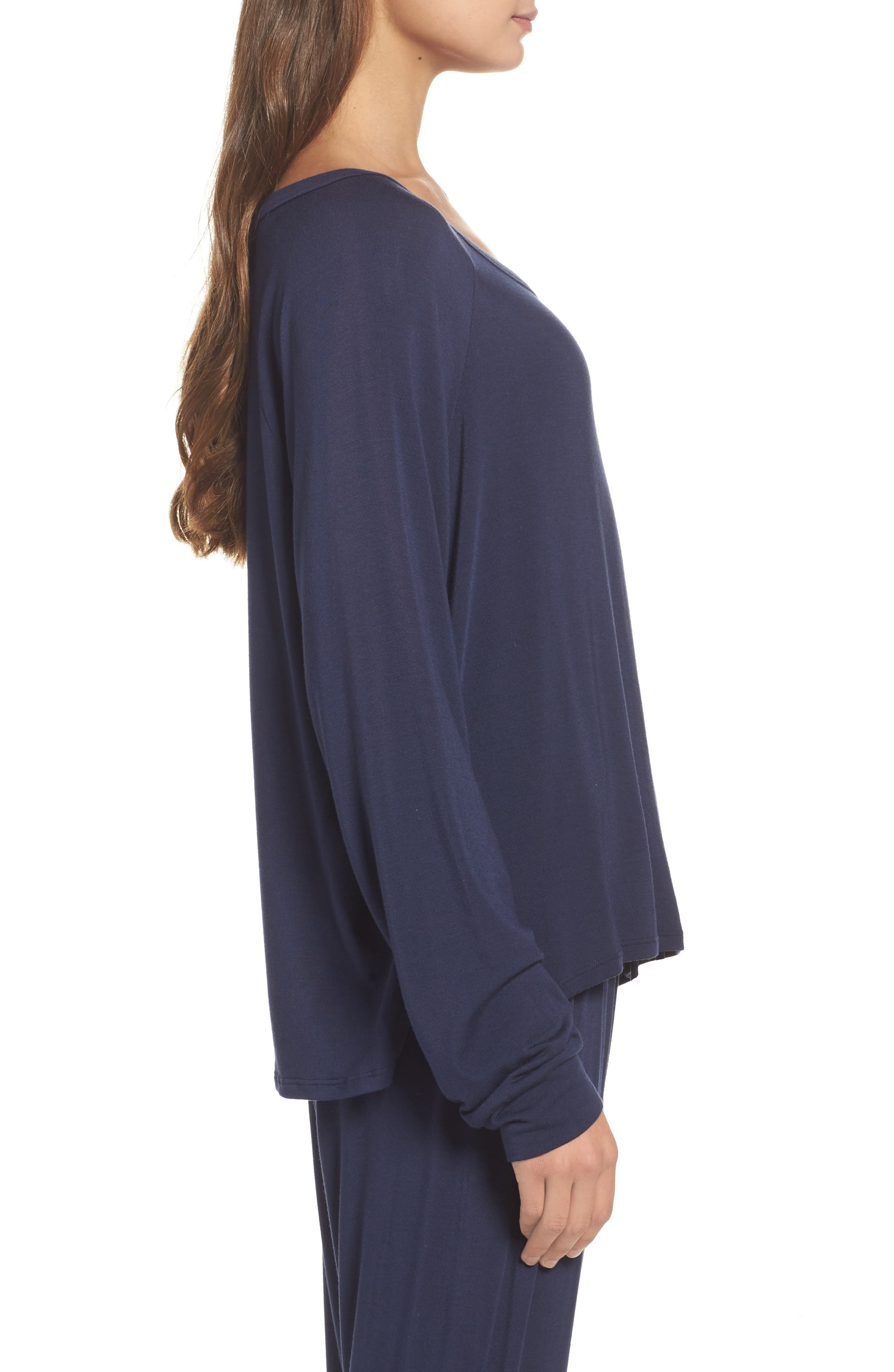 Amber Long Sleeve Top,                             Alternate thumbnail 3, color,                             Twilight