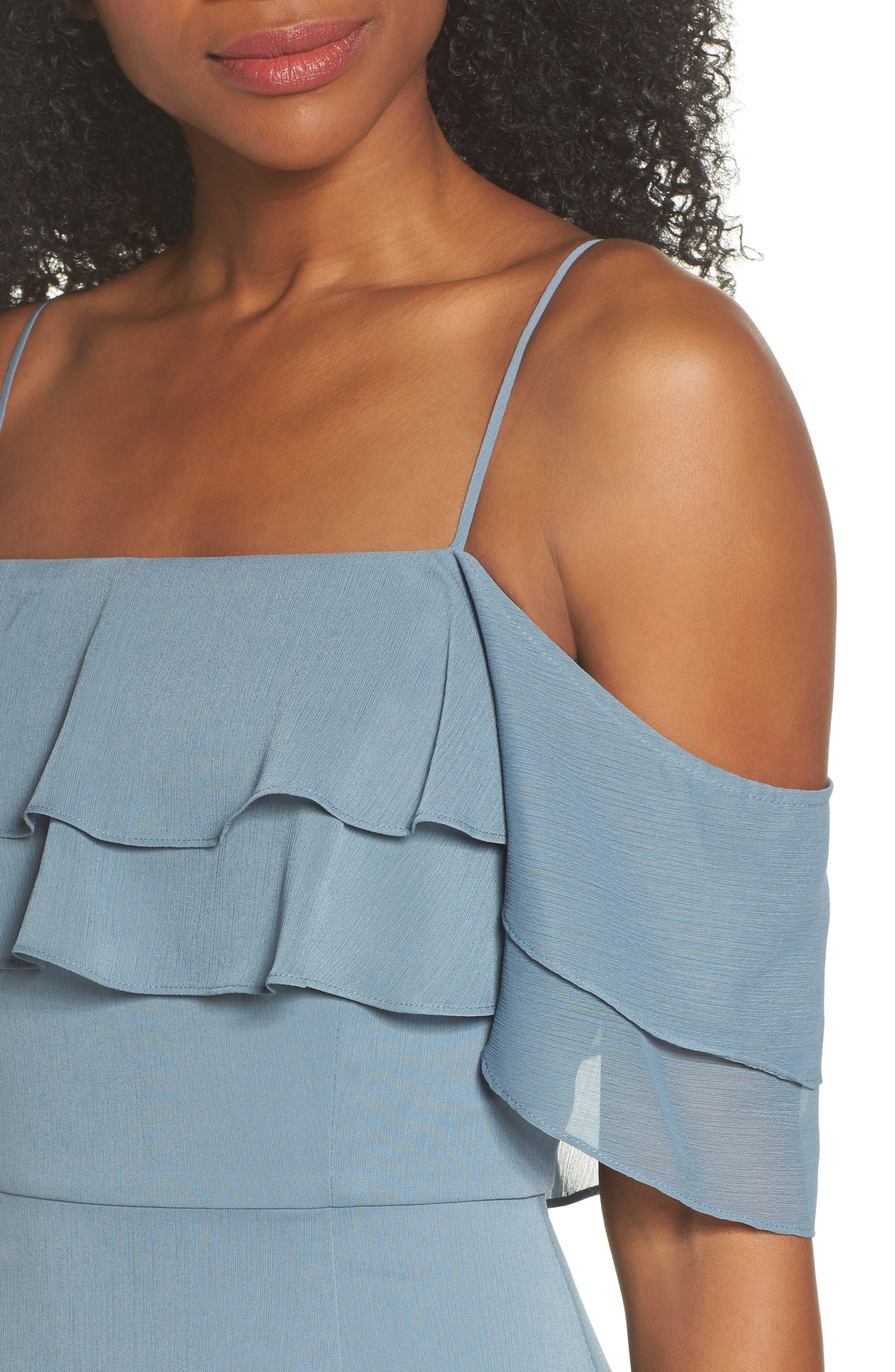 Alternate Image 4  - WAYF Lauren Off the Shoulder Tiered Gown