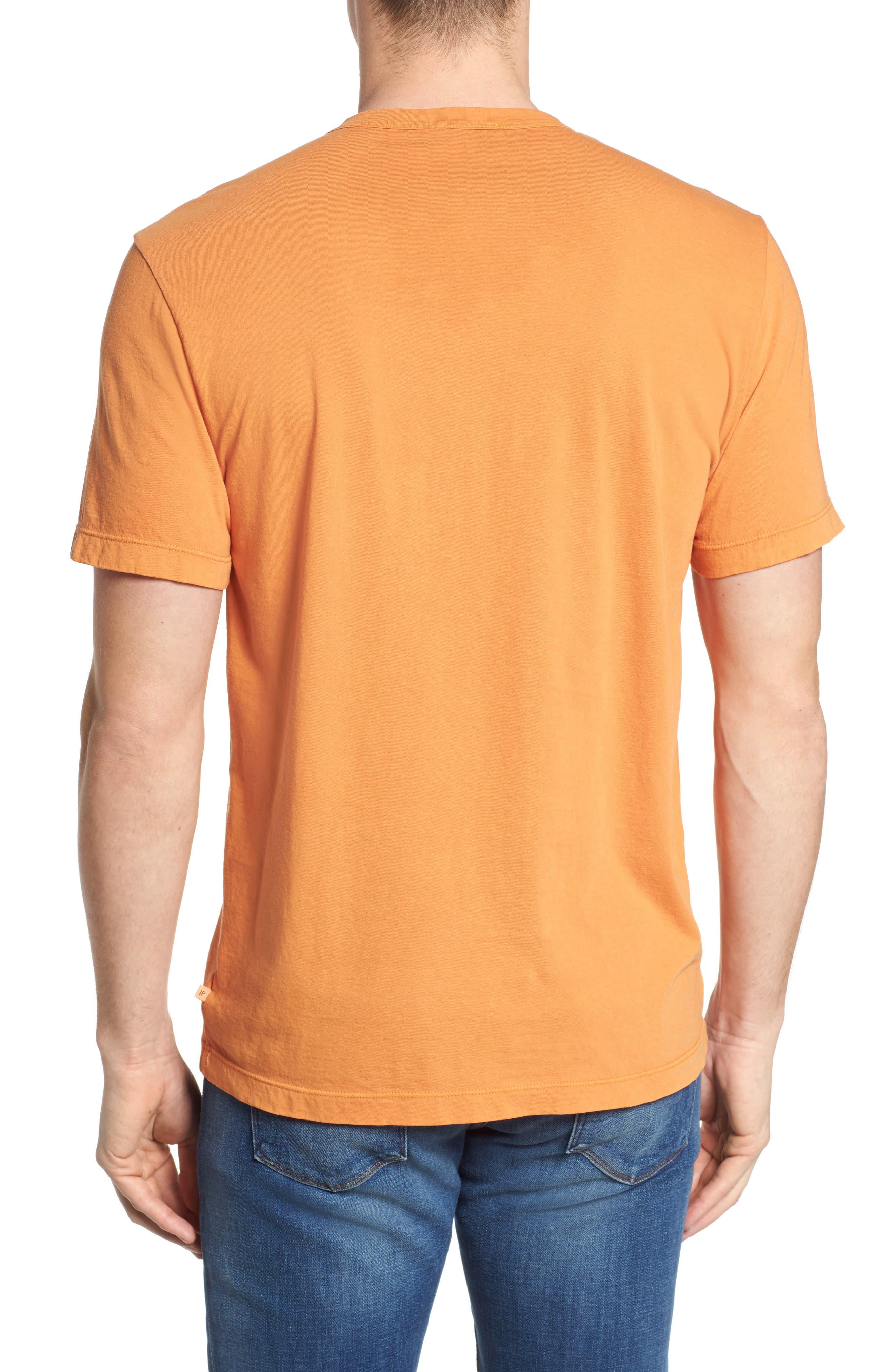 Crewneck Jersey T-Shirt,                             Alternate thumbnail 2, color,                             Goldfish Pigment