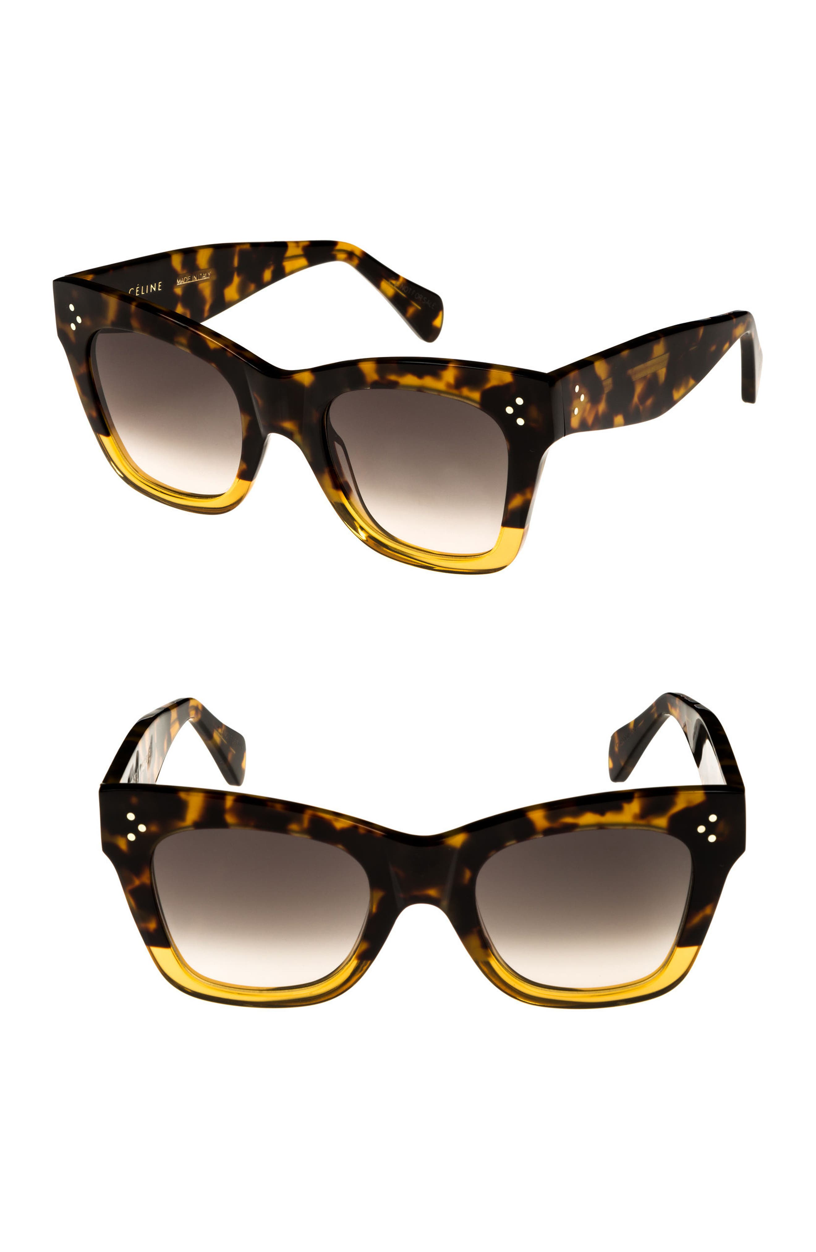 Alternate Image 1 Selected - Céline 50mm Gradient Butterfly Sunglasses