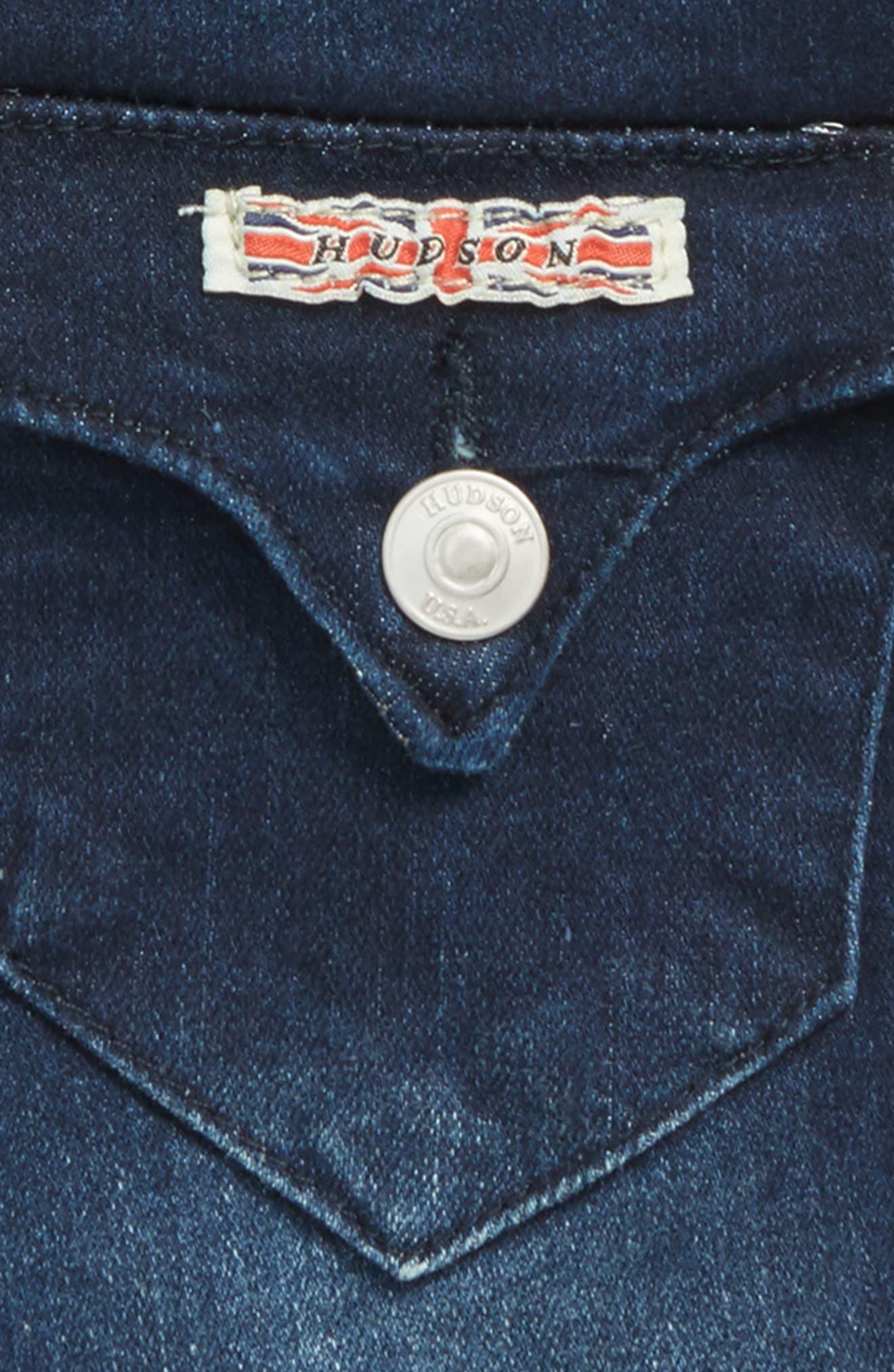 Roll Cuff Denim Shorts,                             Alternate thumbnail 3, color,                             Low Octane Blue