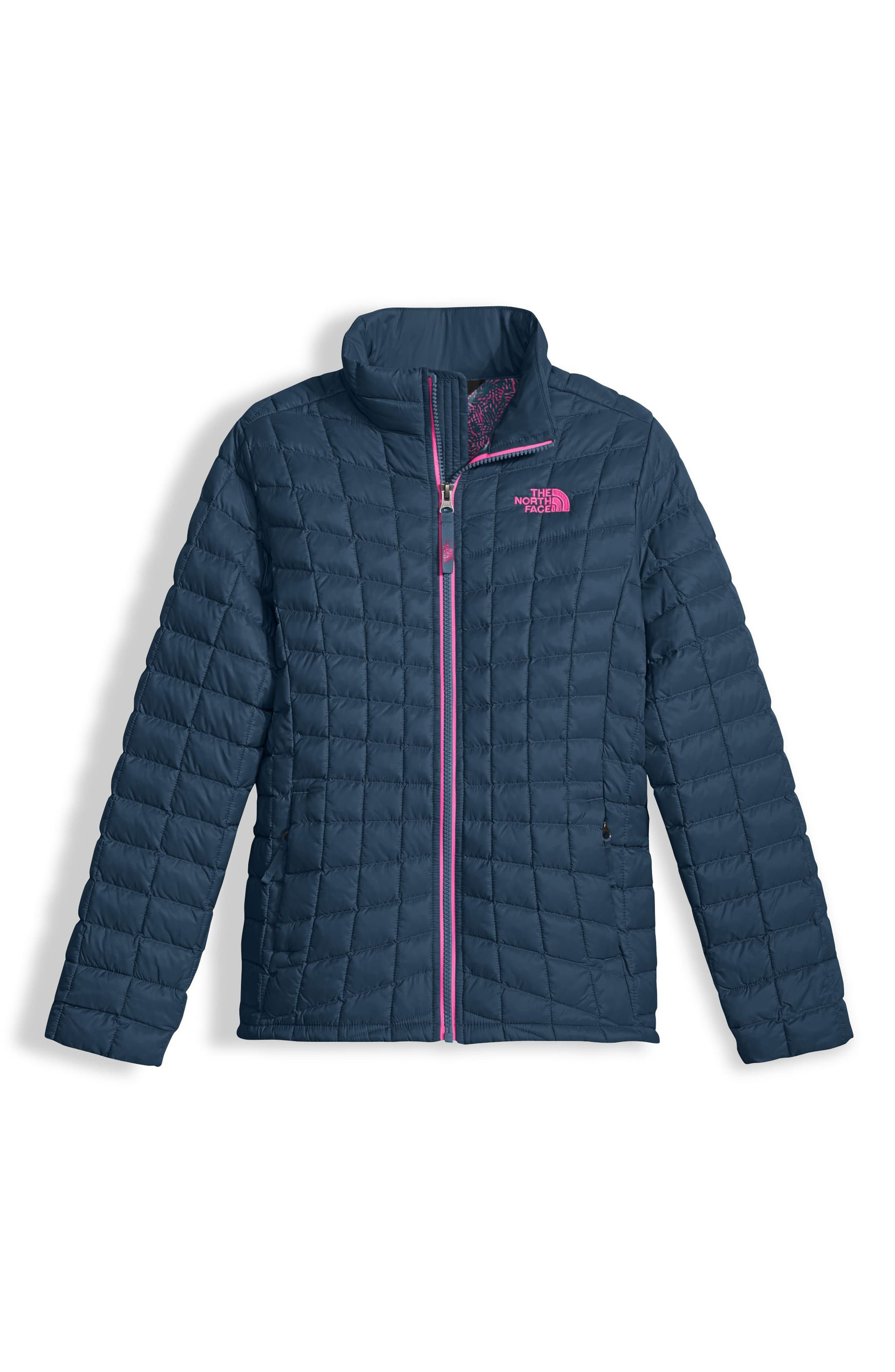 ThermoBall<sup>™</sup> PrimaLoft<sup>®</sup> Quilted Jacket,                         Main,                         color, Blue Wing Teal Leaf Print