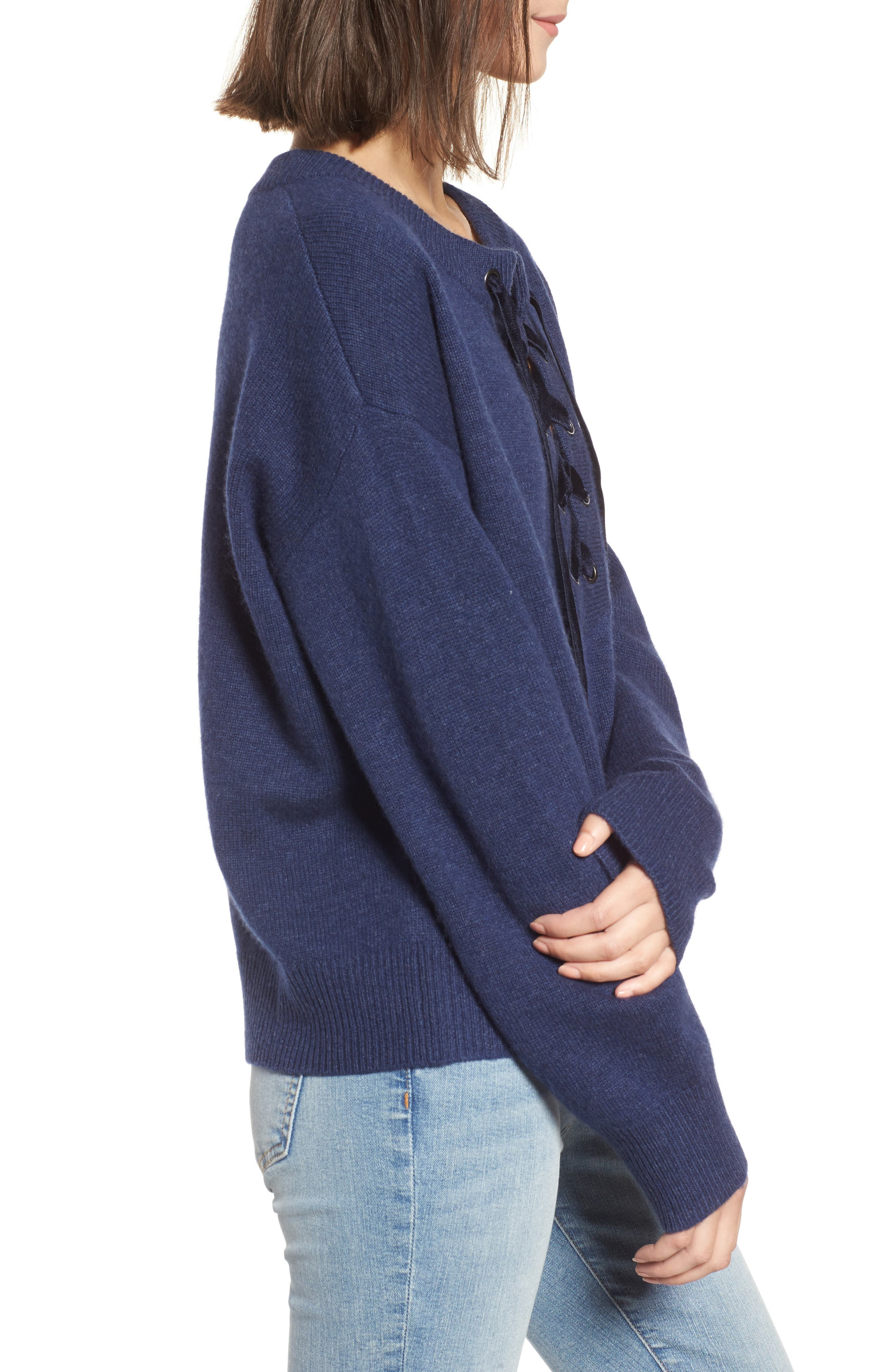 Alternate Image 3  - Rails Olivia Lace-Up Sweater