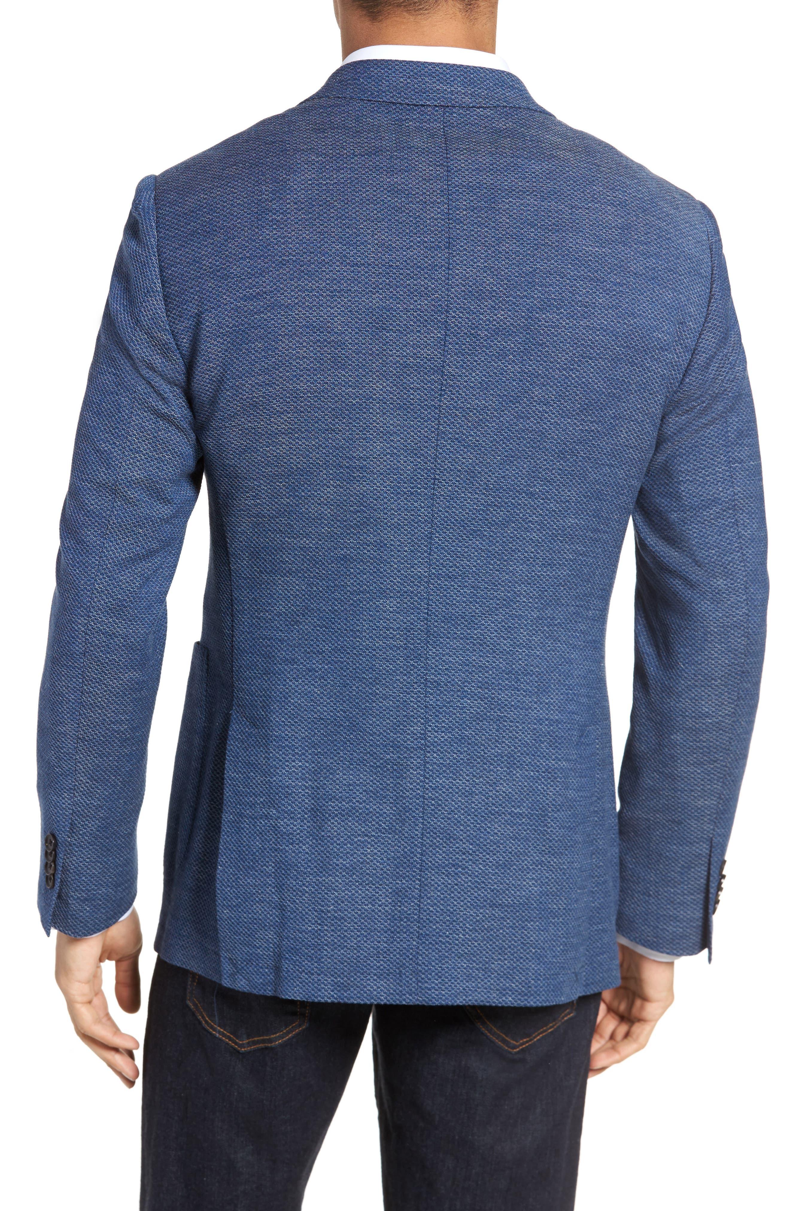 Fife Street Wool Blend Blazer,                             Alternate thumbnail 2, color,                             Marine