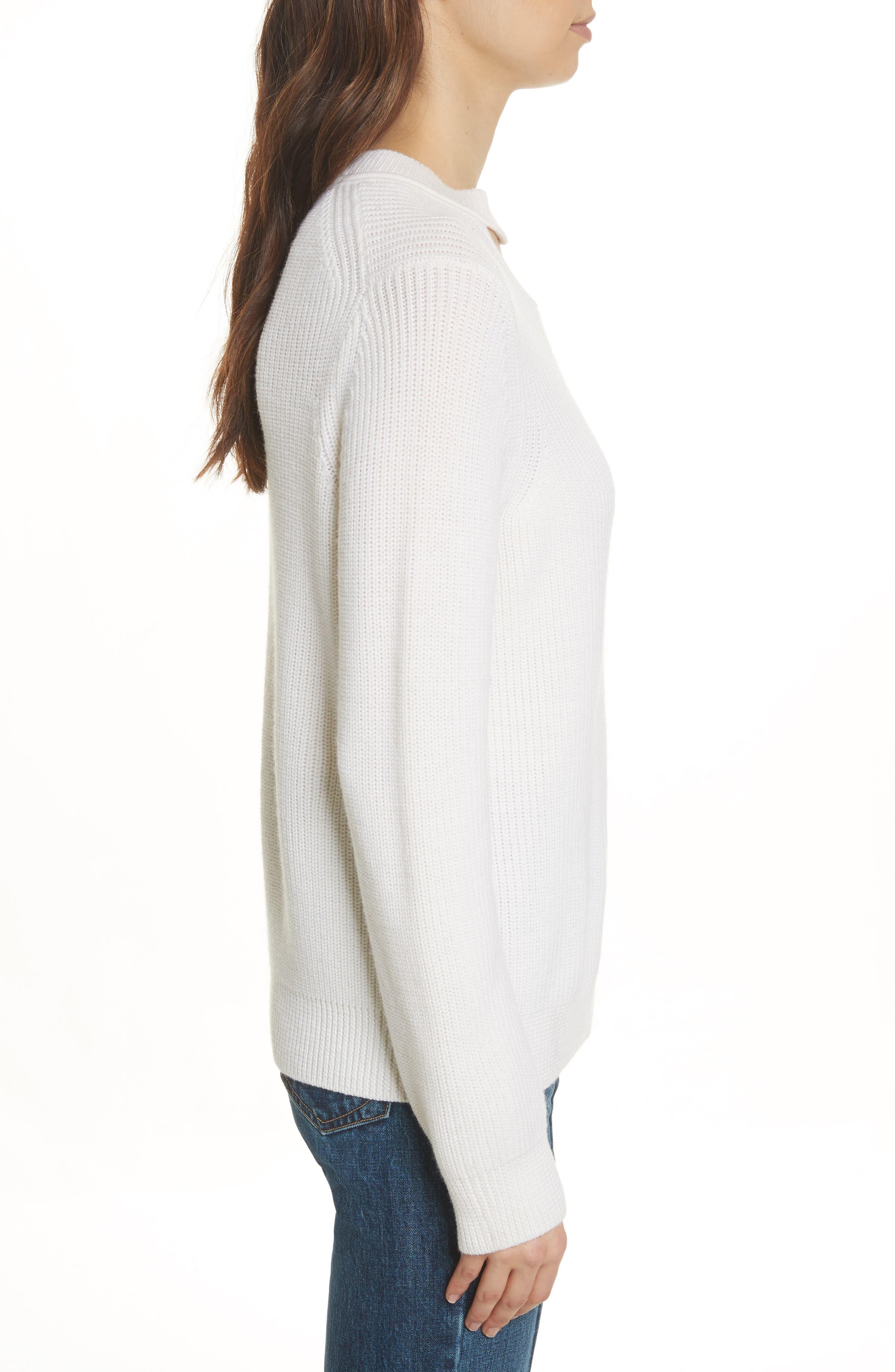 Tori Cutout Sweatshirt,                             Alternate thumbnail 3, color,                             Ivory