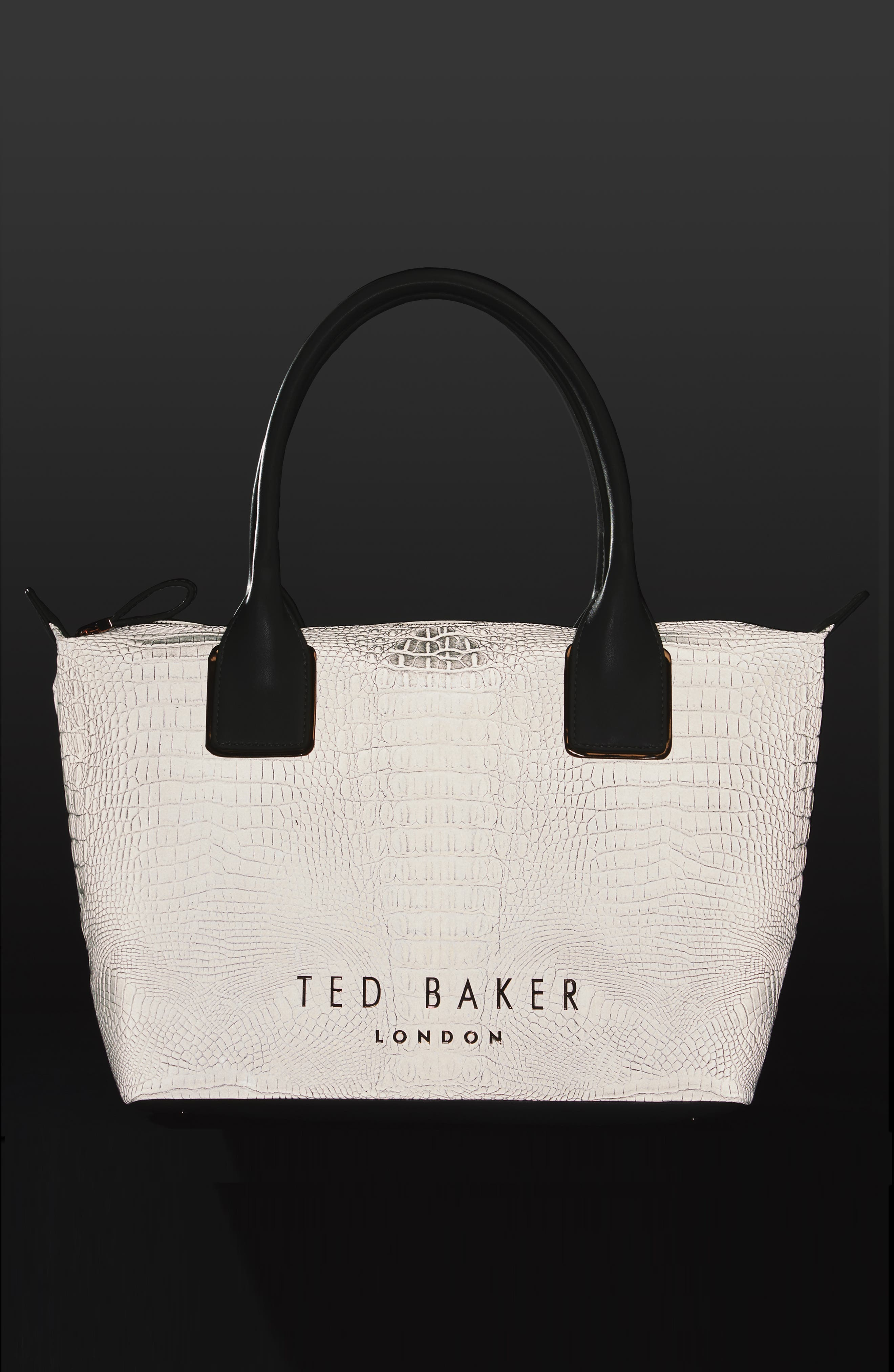 Alternate Image 2  - Ted Baker London Remus Reflective Croc Embossed Faux Leather Tote