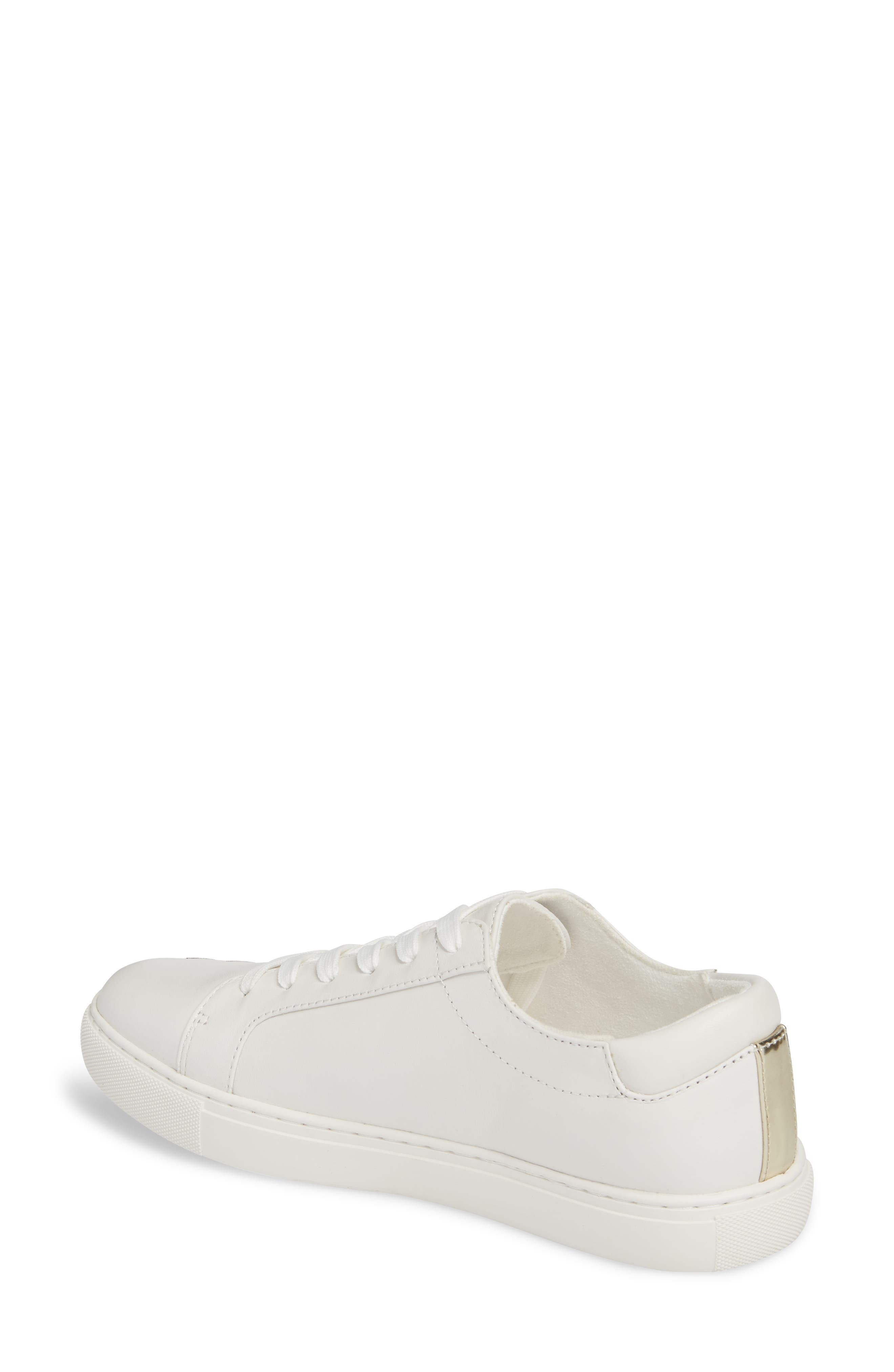 Kam Blossom Embroidered Sneaker,                             Alternate thumbnail 2, color,                             White Leather