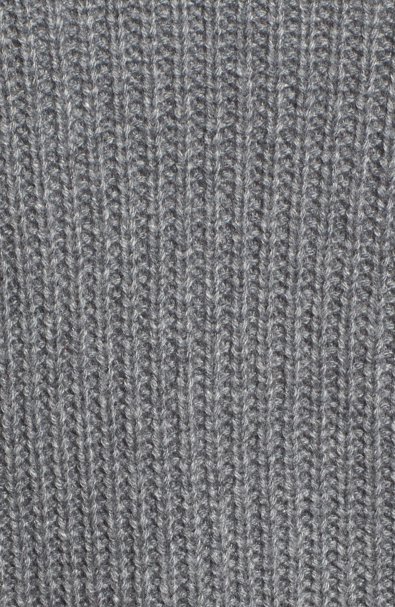 Twist Front Sweater,                             Alternate thumbnail 5, color,                             Grey Dark Heather