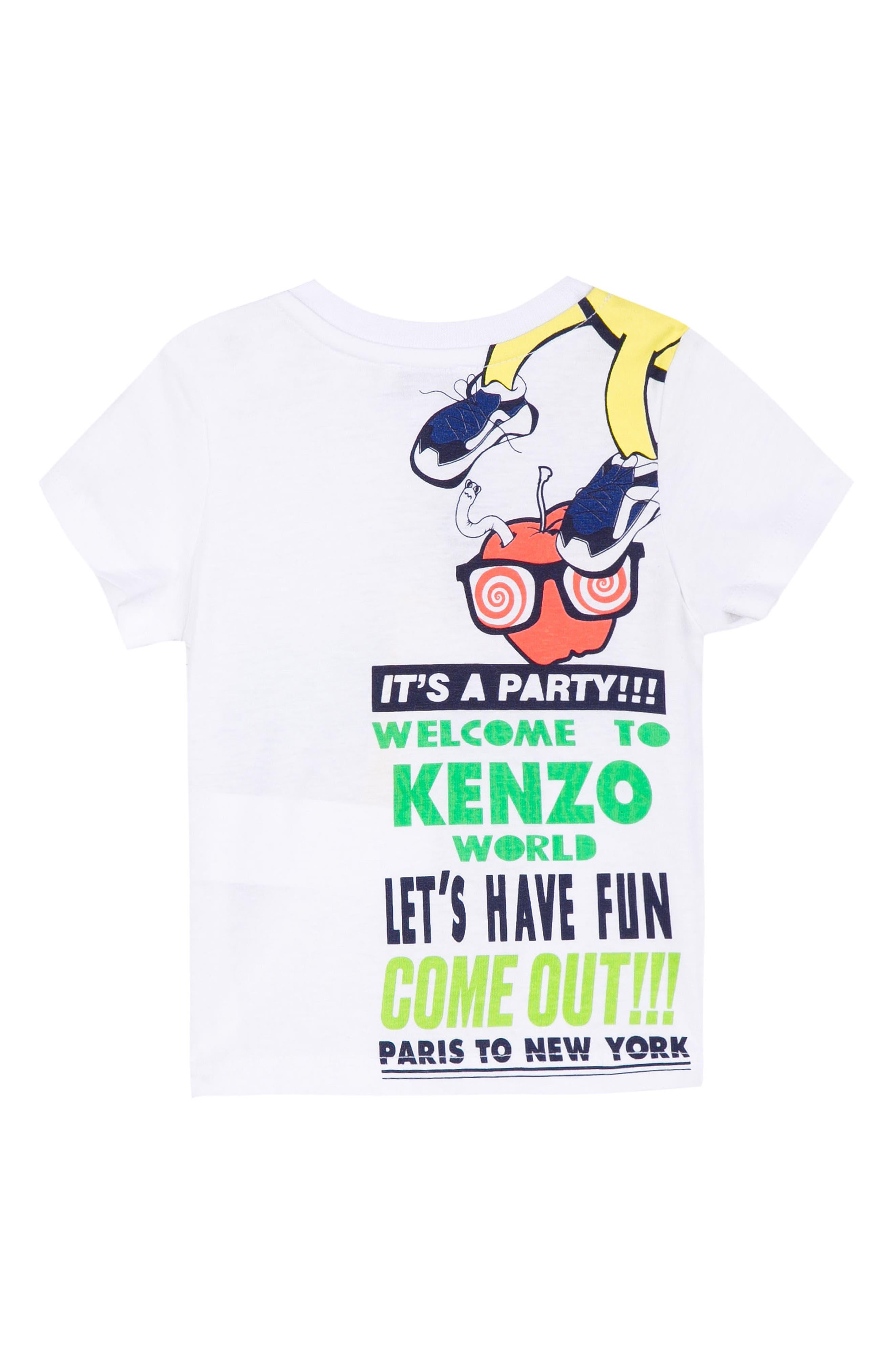 Funny Logo Graphic T-Shirt,                             Alternate thumbnail 2, color,                             White