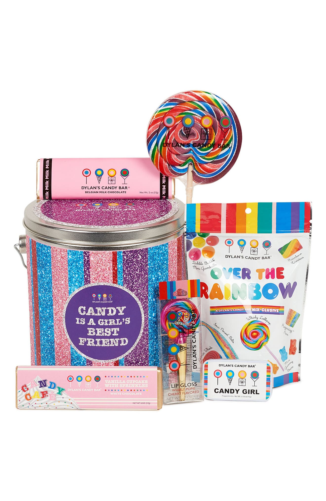 Candy Is a Girl's Best Friend Bucket,                             Alternate thumbnail 3, color,                             Pink Multi