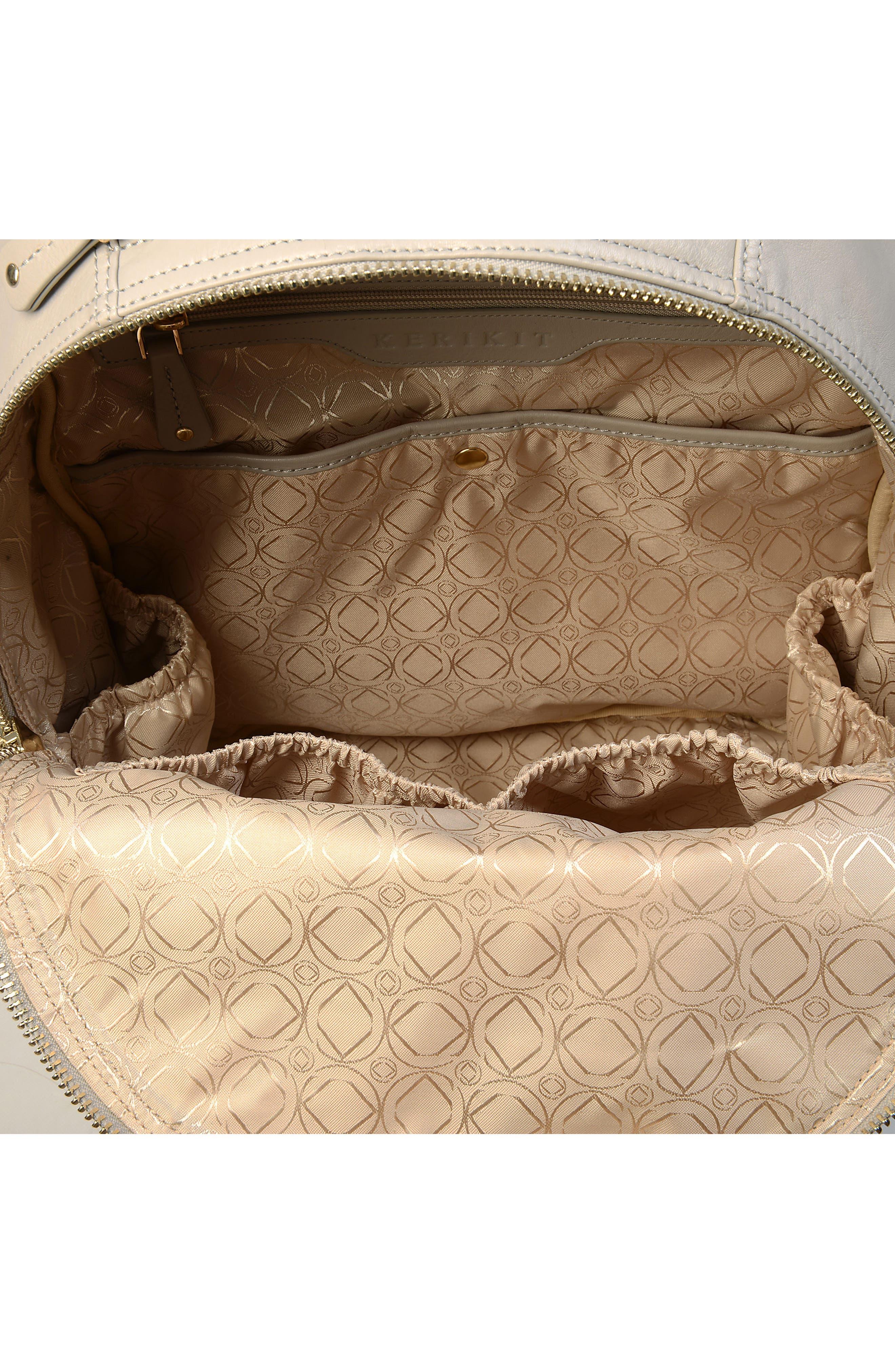 Joy XL Leather Backpack,                             Alternate thumbnail 11, color,                             Ice Grey