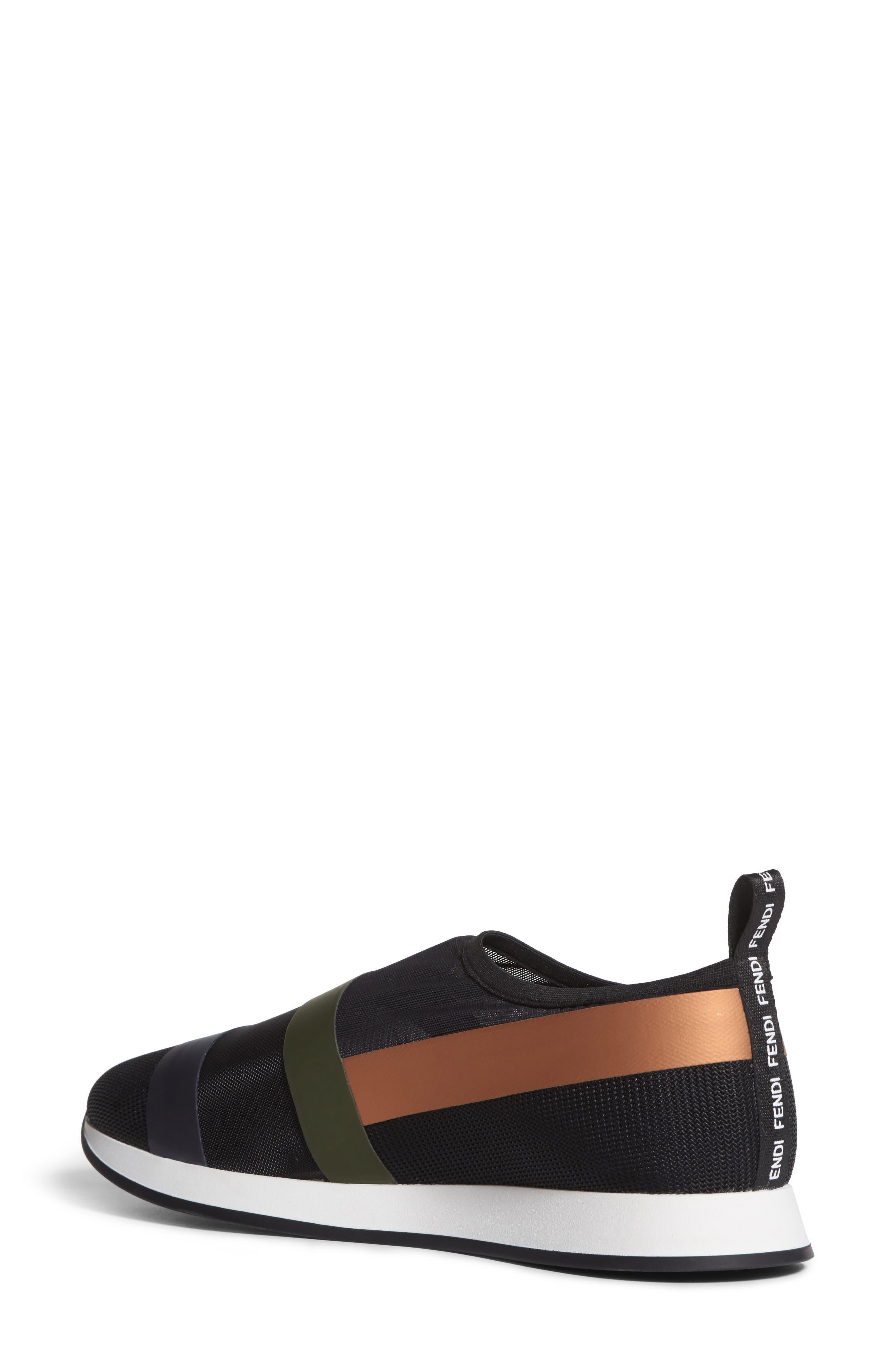 Slip-On Sneaker,                             Alternate thumbnail 2, color,                             Black/ Beige