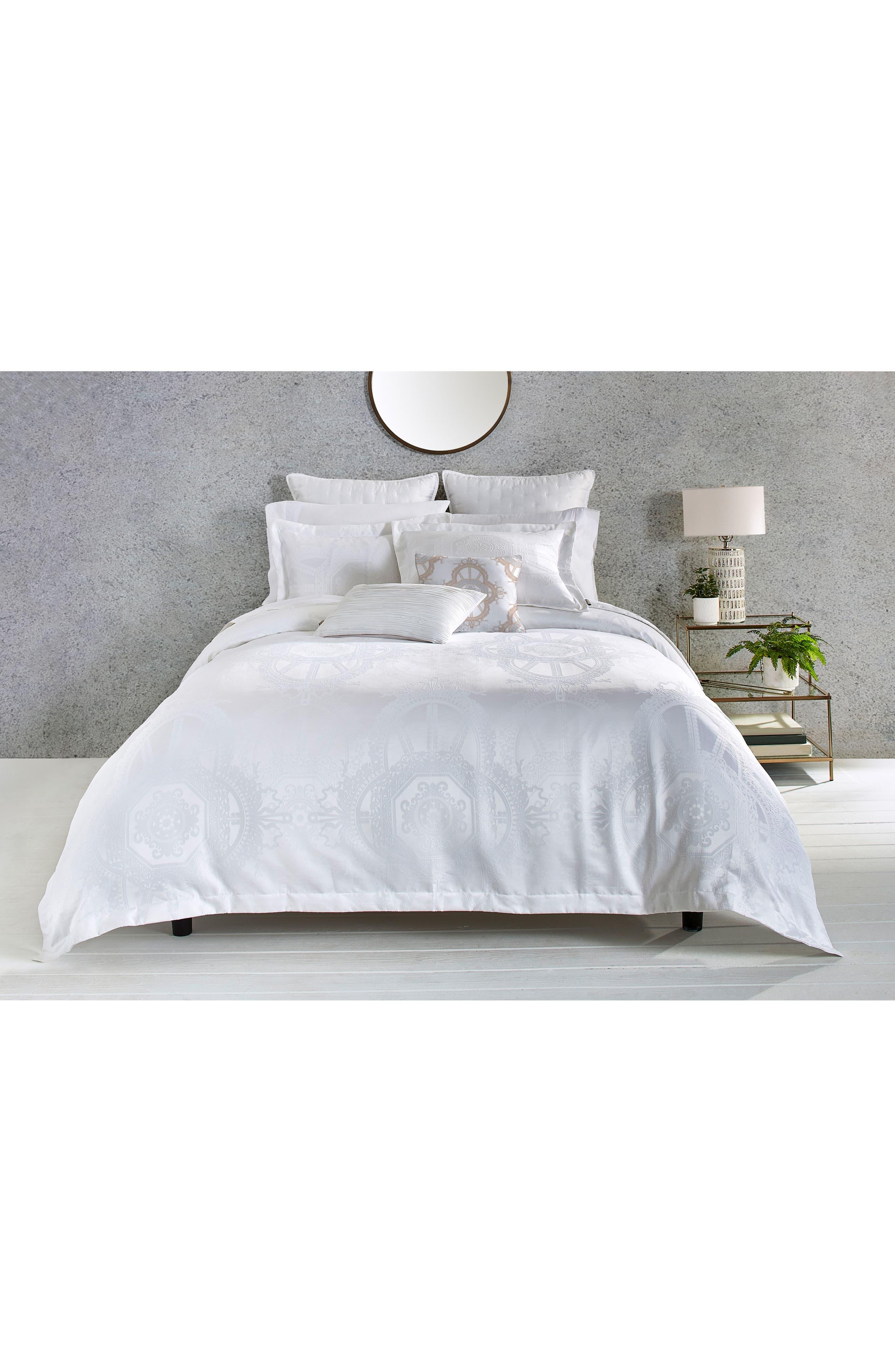 Versailles Comforter & Sham Set,                         Main,                         color, White