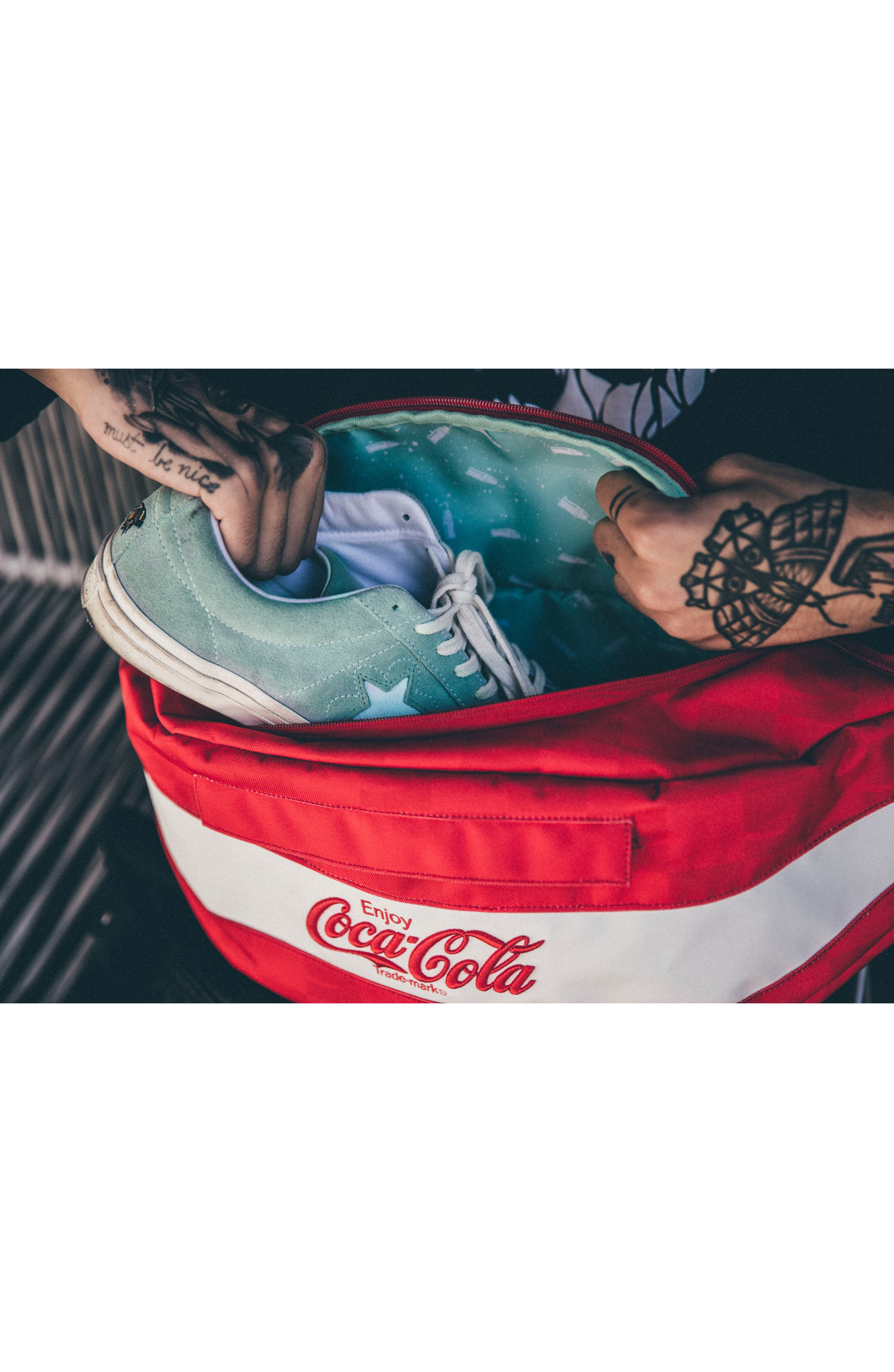 Coca Cola Sneaker Sling,                             Alternate thumbnail 5, color,                             Red