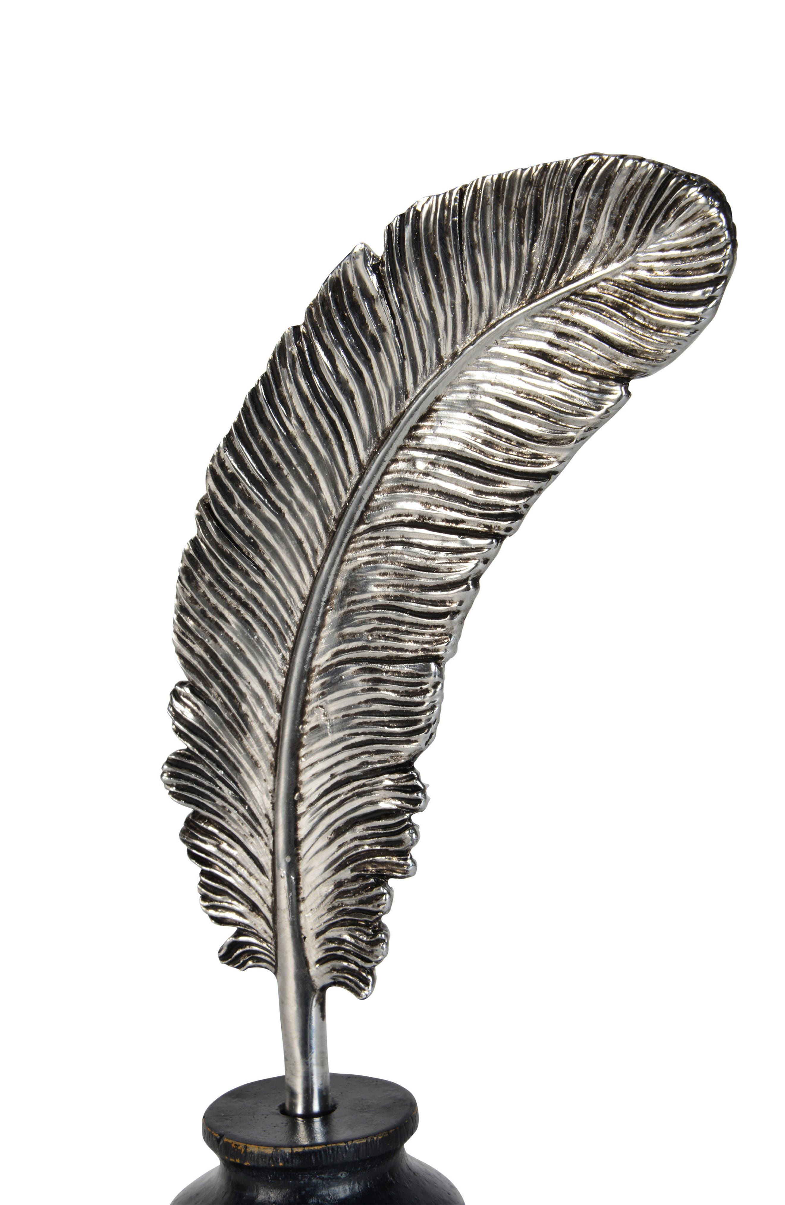Calamus Statue,                             Alternate thumbnail 2, color,                             Antique Silver And Black