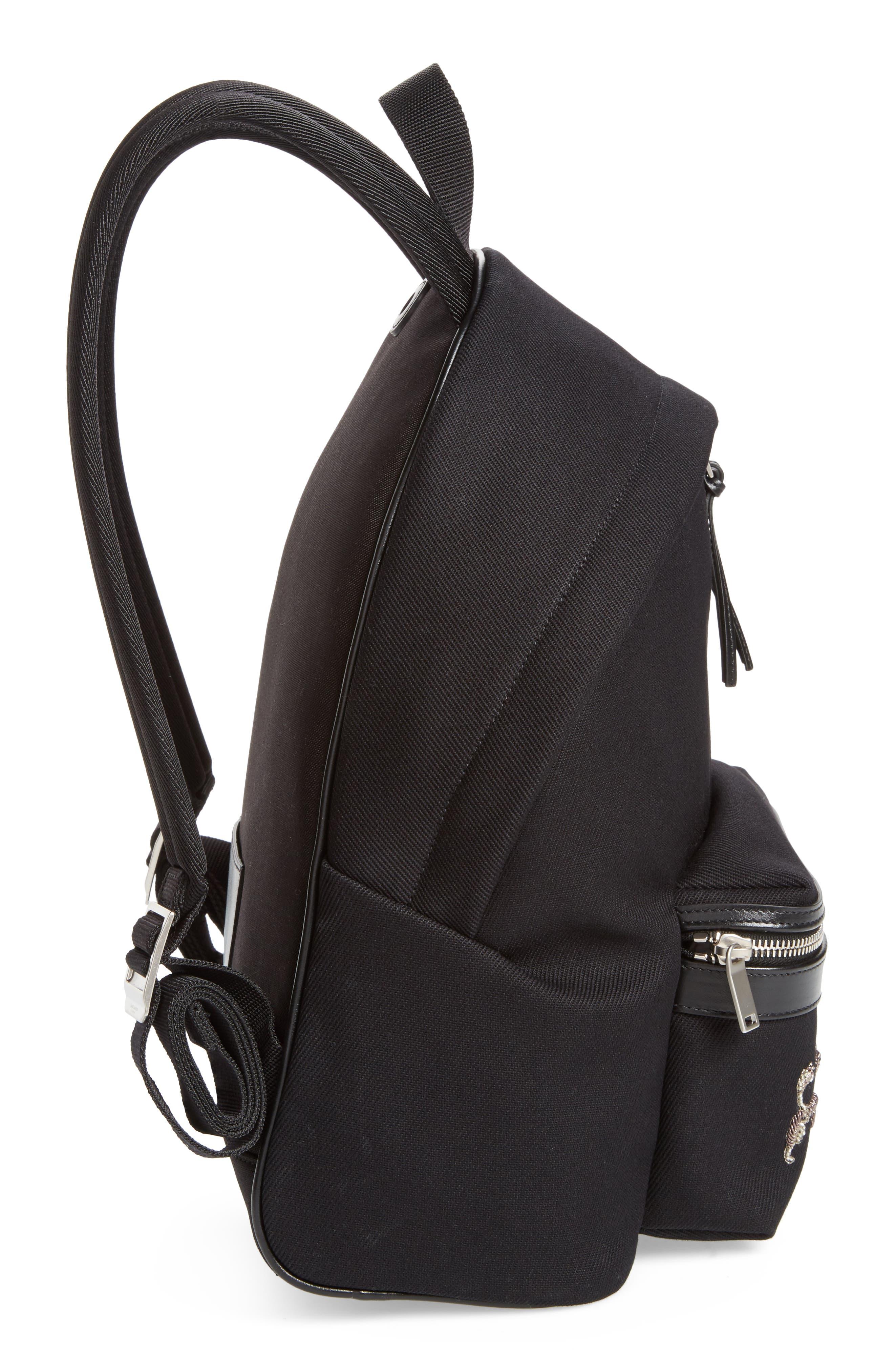 Alternate Image 5  - Saint Laurent Mini City Logo Canvas Backpack