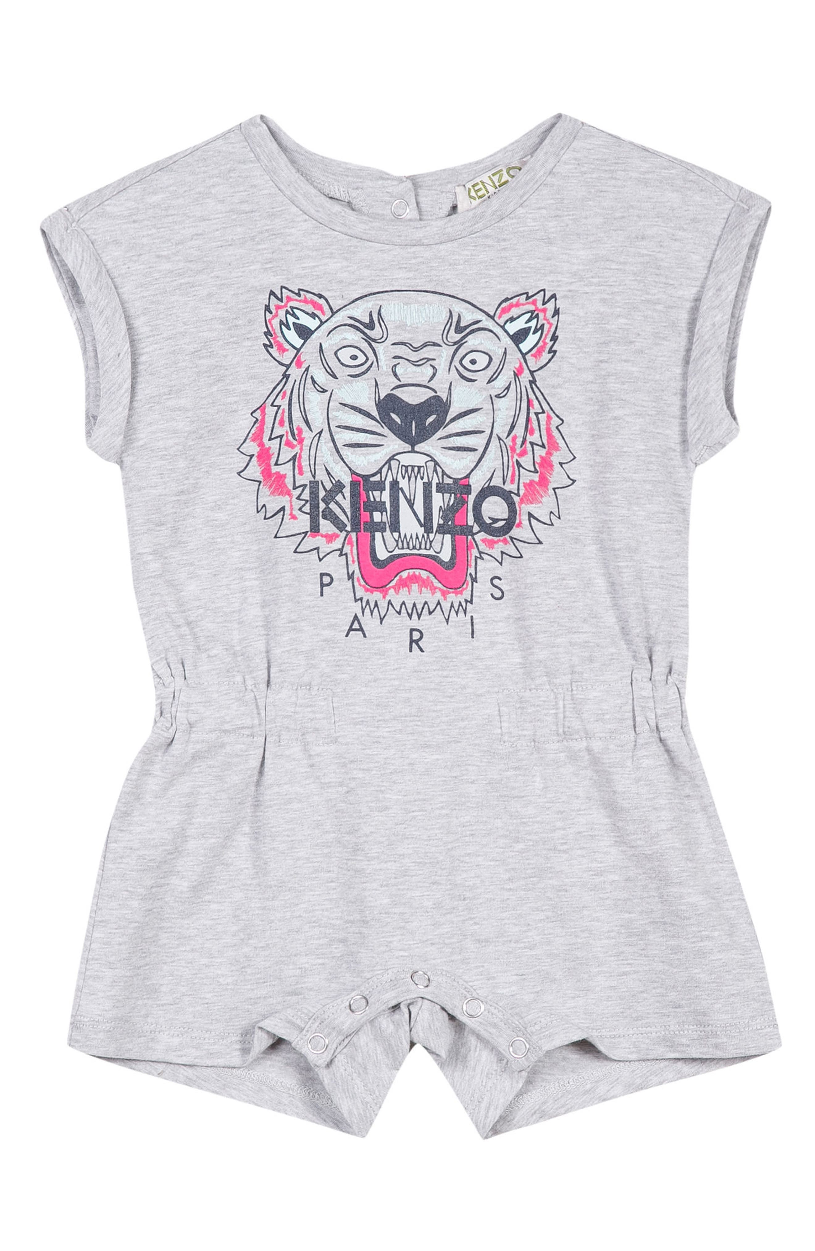 KENZO Tiger Logo Romper (Baby Girls)
