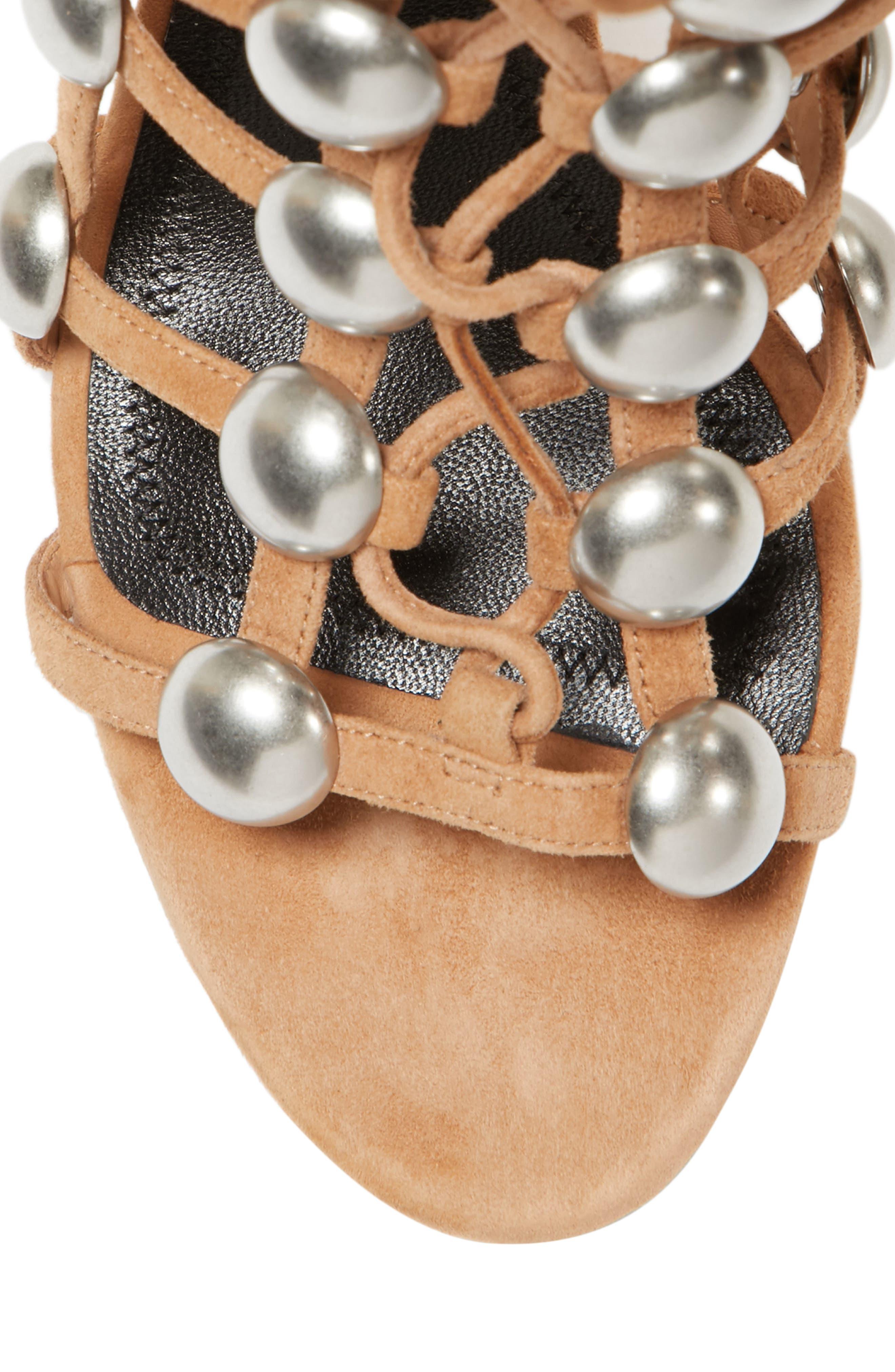Rainey Studded Sandal,                             Alternate thumbnail 5, color,                             Clay
