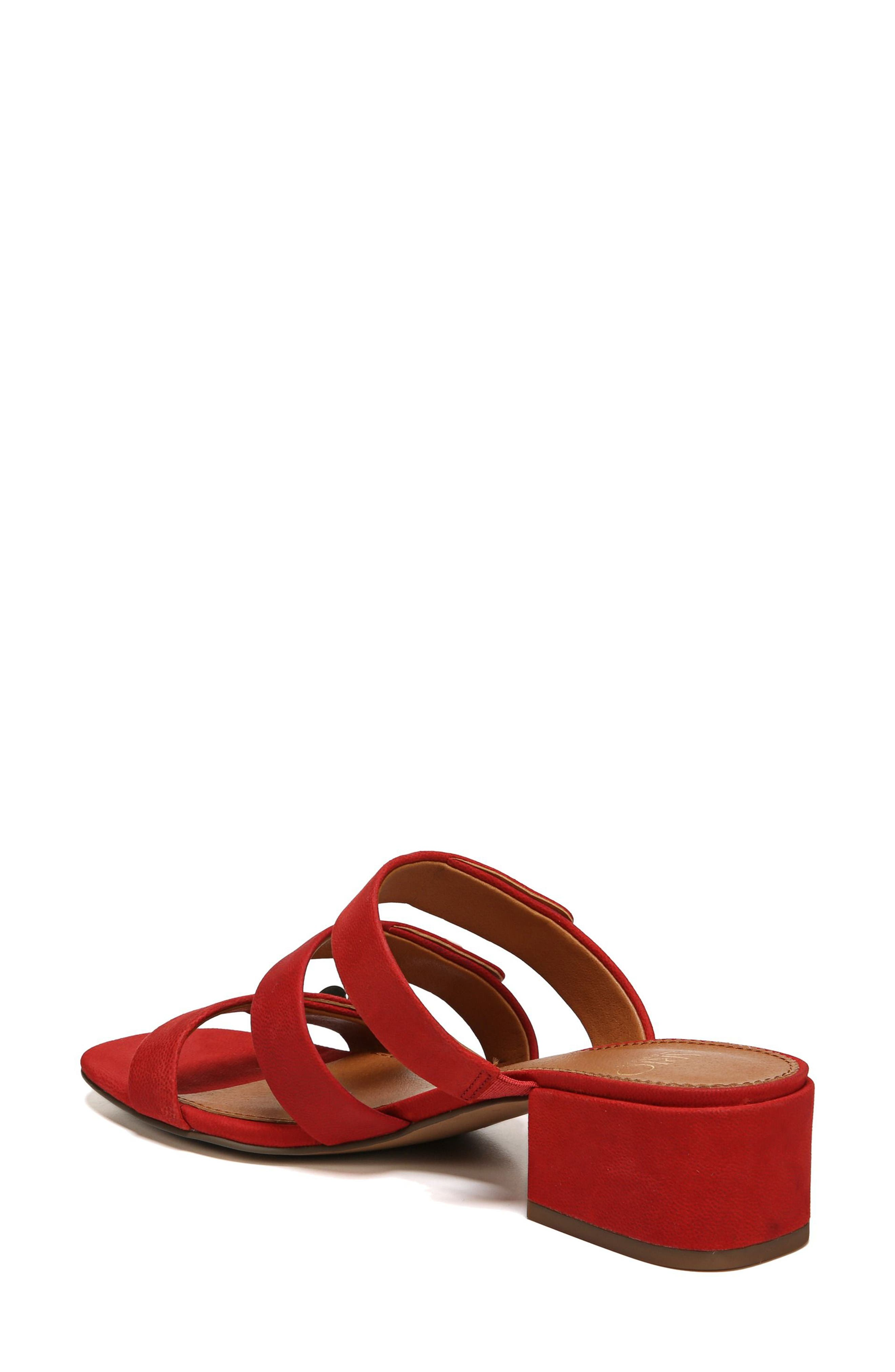 Arabesque Strappy Slide Sandal,                             Alternate thumbnail 2, color,                             Pop Red Nubuck