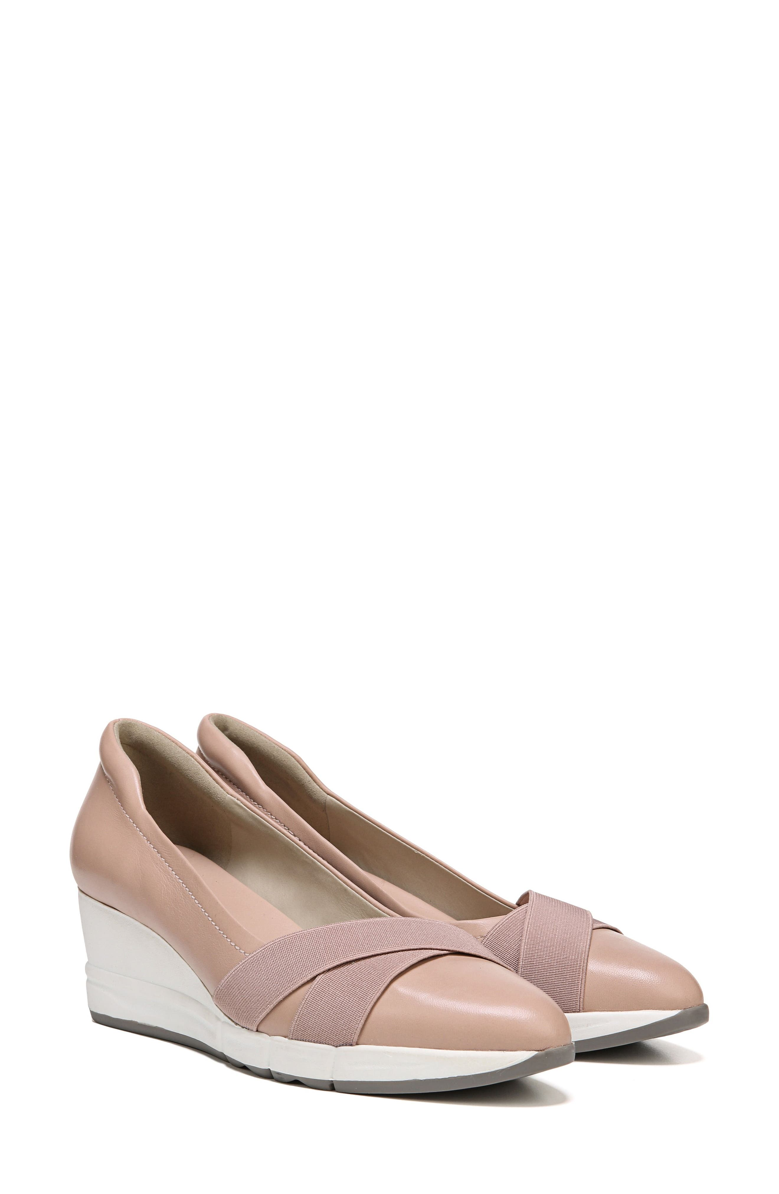 Harlyn Wedge Pump,                             Alternate thumbnail 9, color,                             Mauve Leather