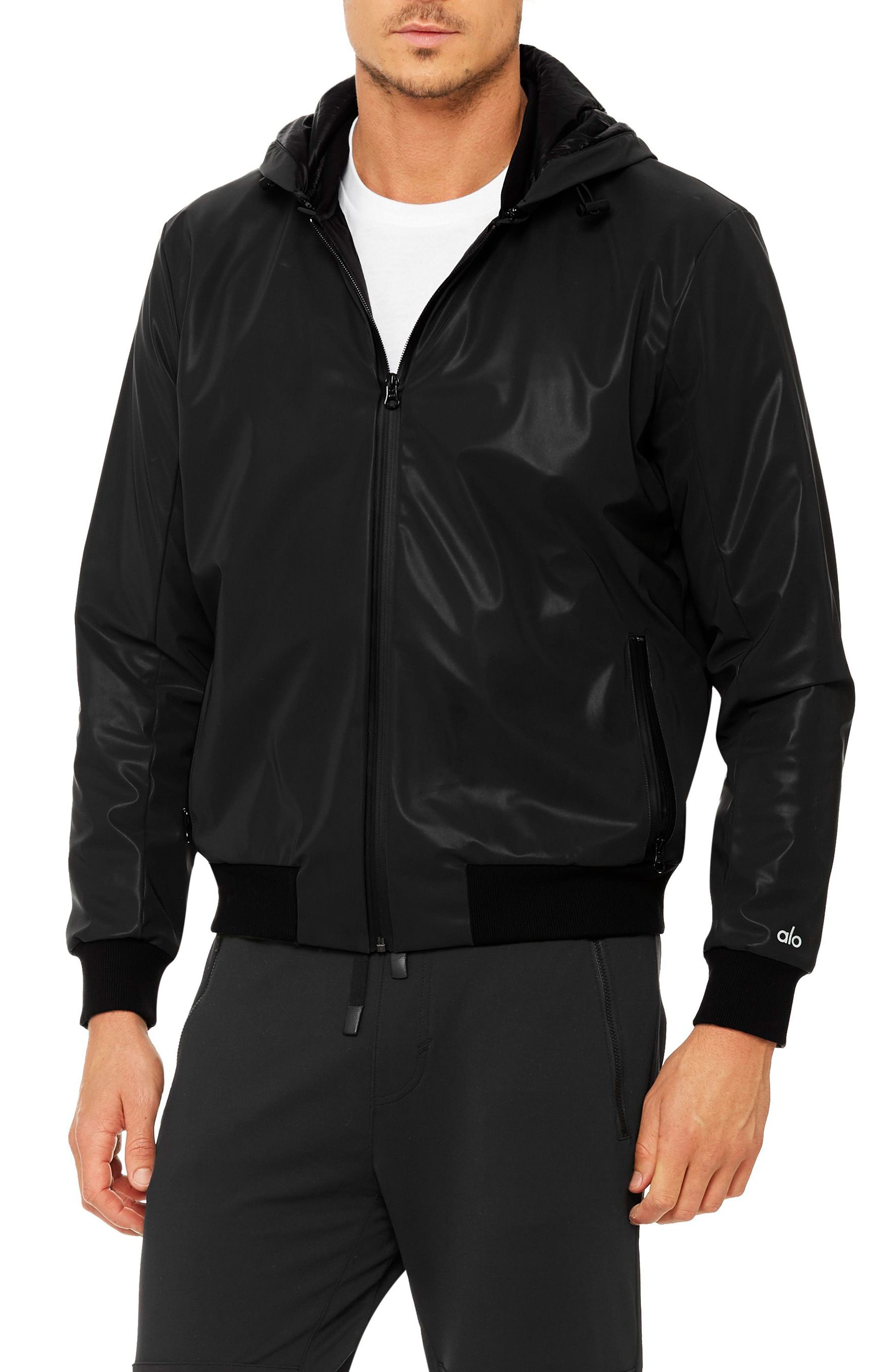 Fleet Bomber Jacket,                         Main,                         color, Black