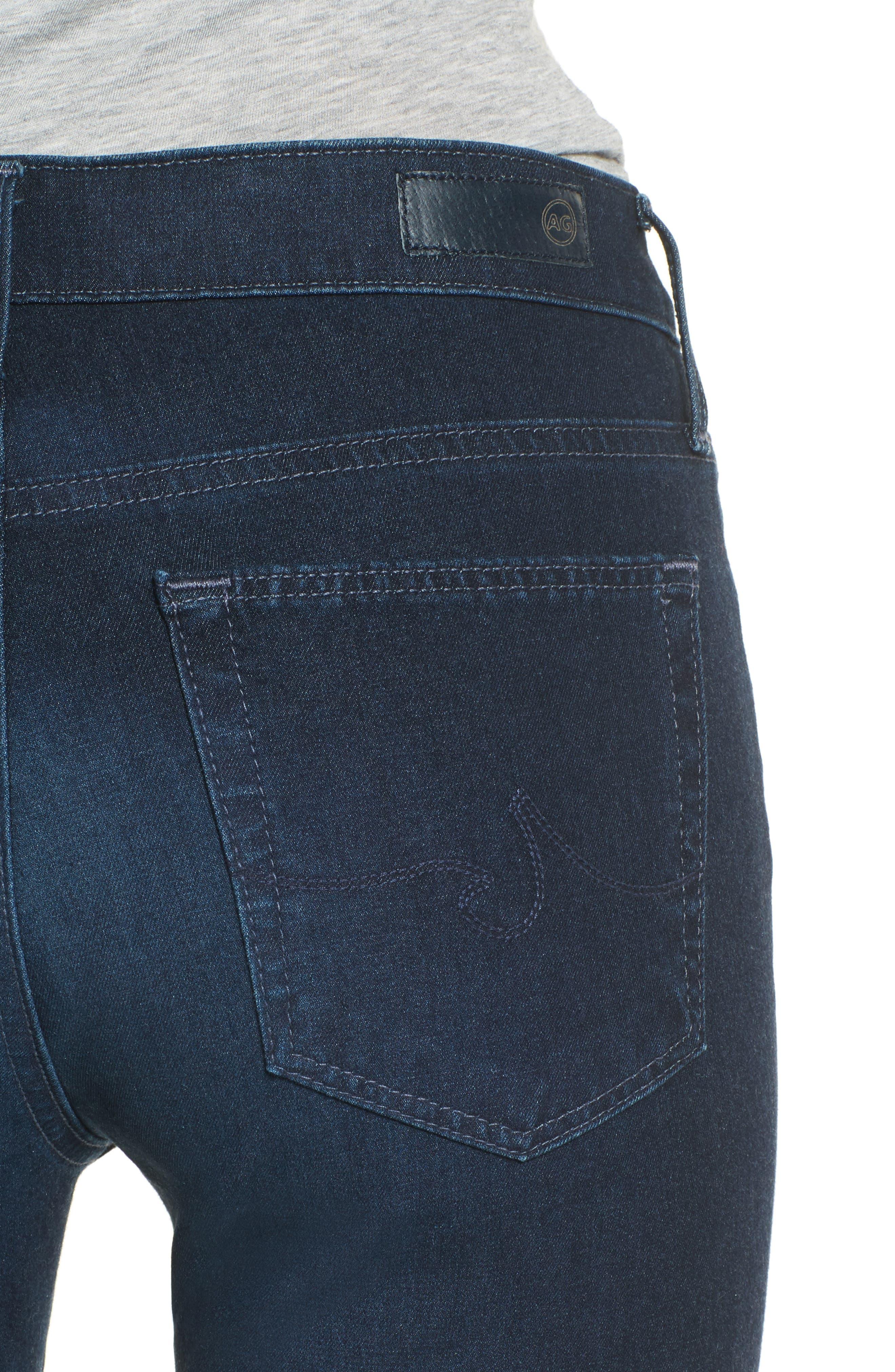 Alternate Image 4  - AG The Farrah High Waist Skinny Jeans