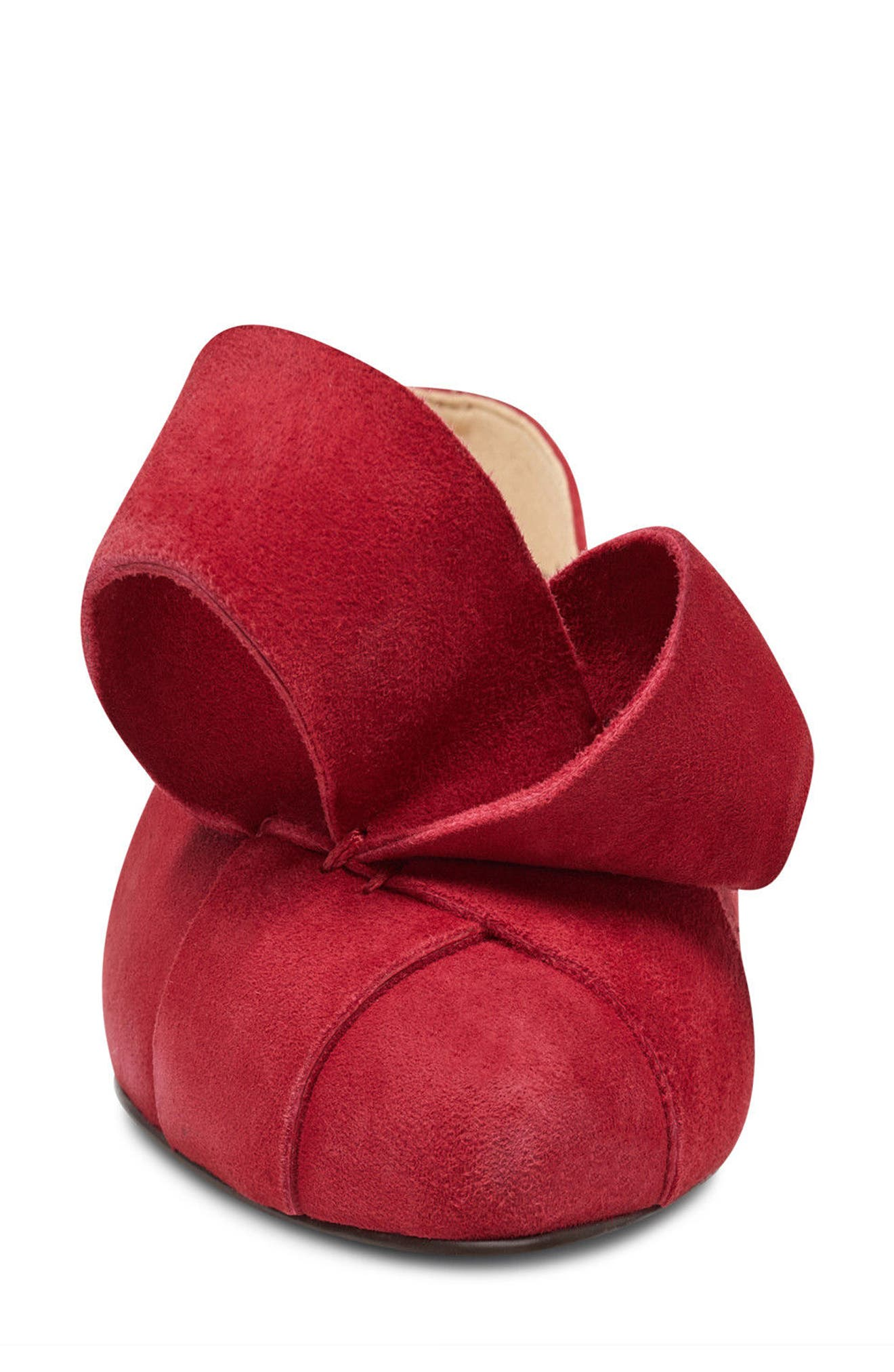 Shoreside d'Orsay Flat,                             Alternate thumbnail 4, color,                             Red Suede