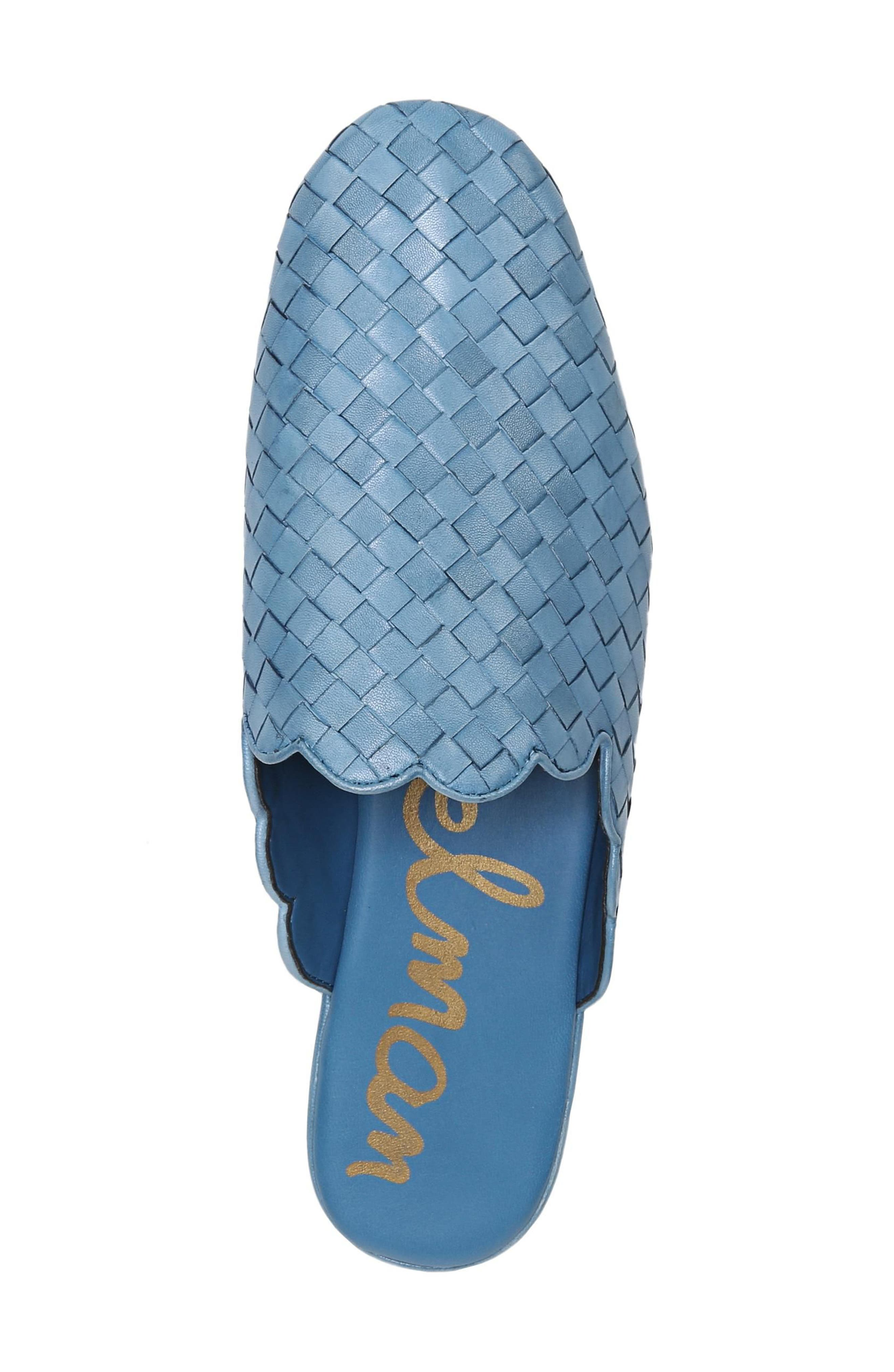Katy Mule,                             Alternate thumbnail 5, color,                             Moroccan Blue Woven Leather