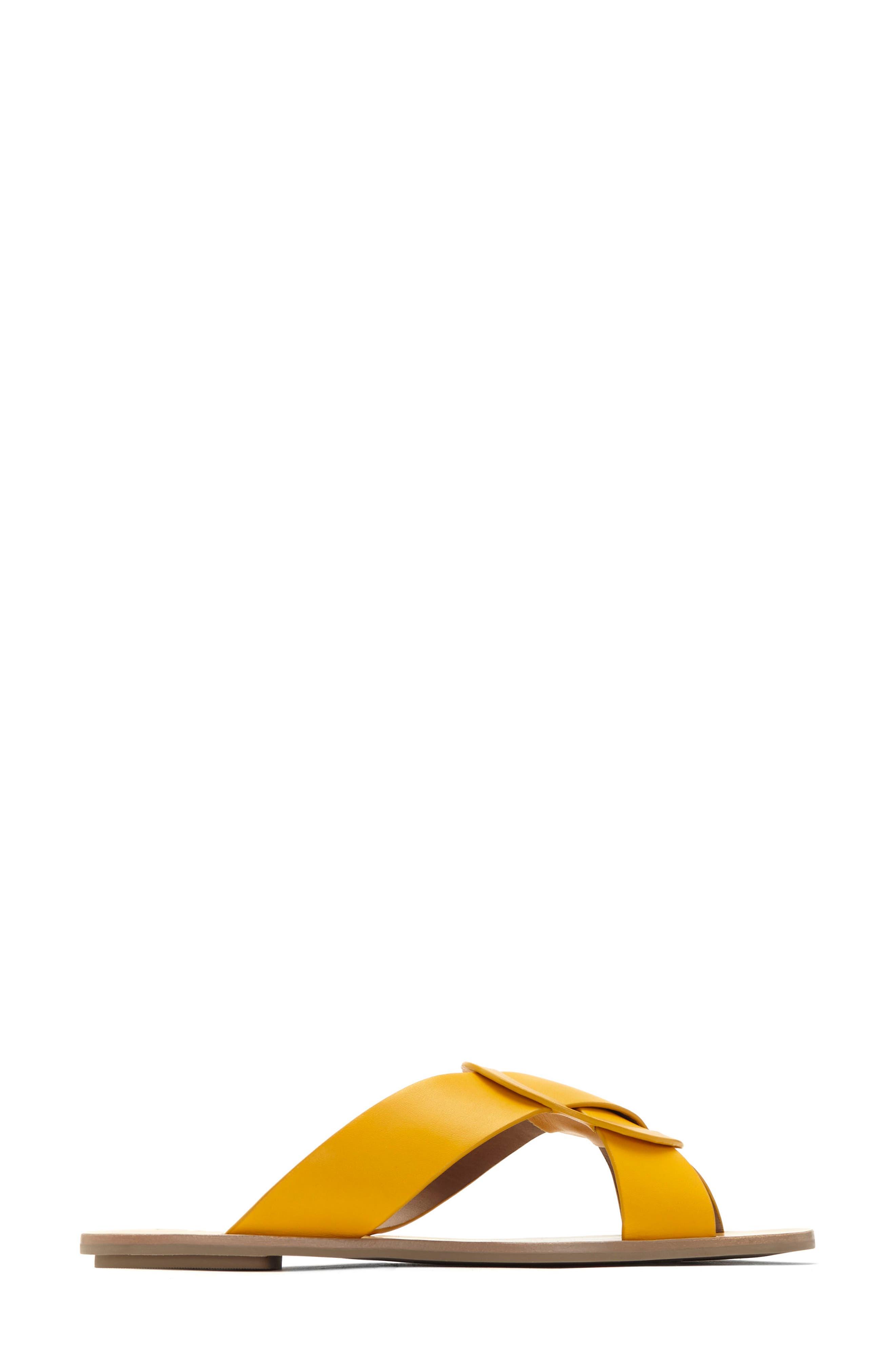 Carlein Slide Sandal,                             Alternate thumbnail 2, color,                             Mustard Leather