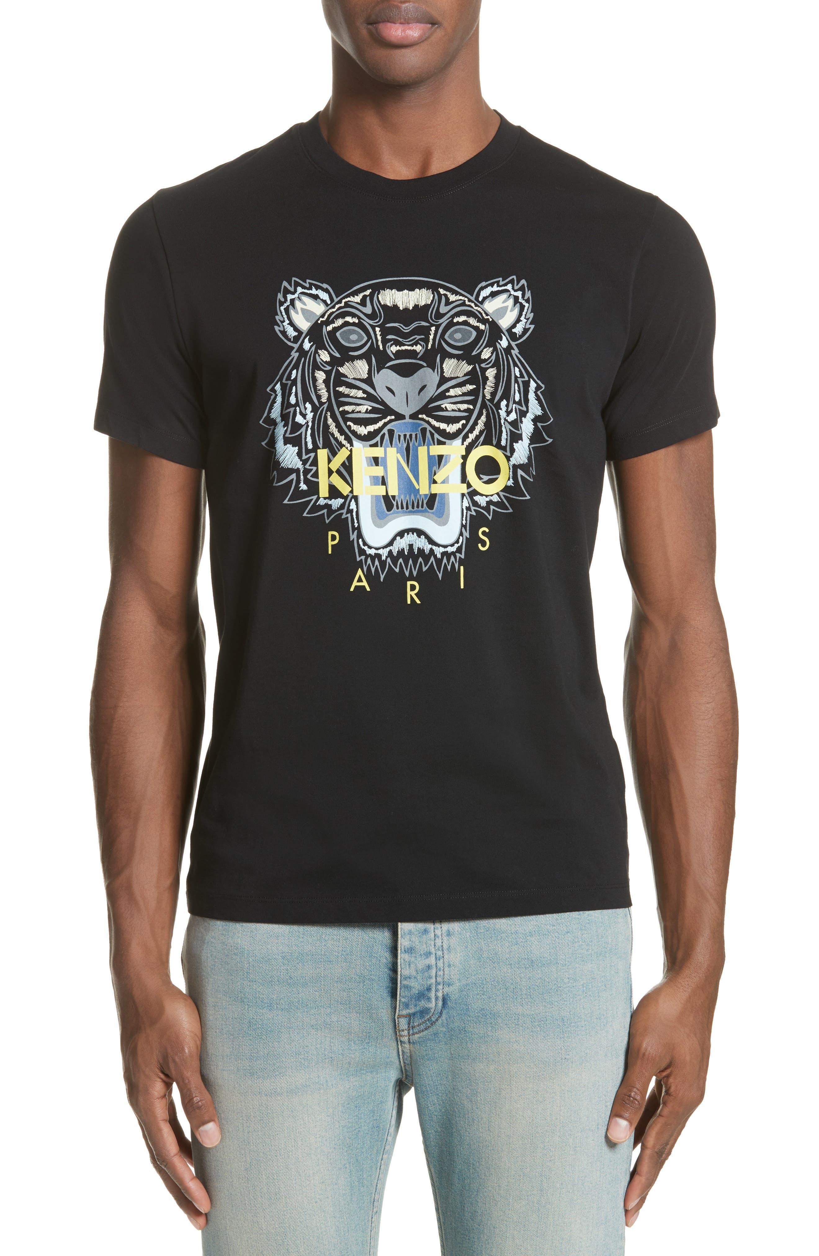Tiger Graphic T-Shirt,                         Main,                         color, Black