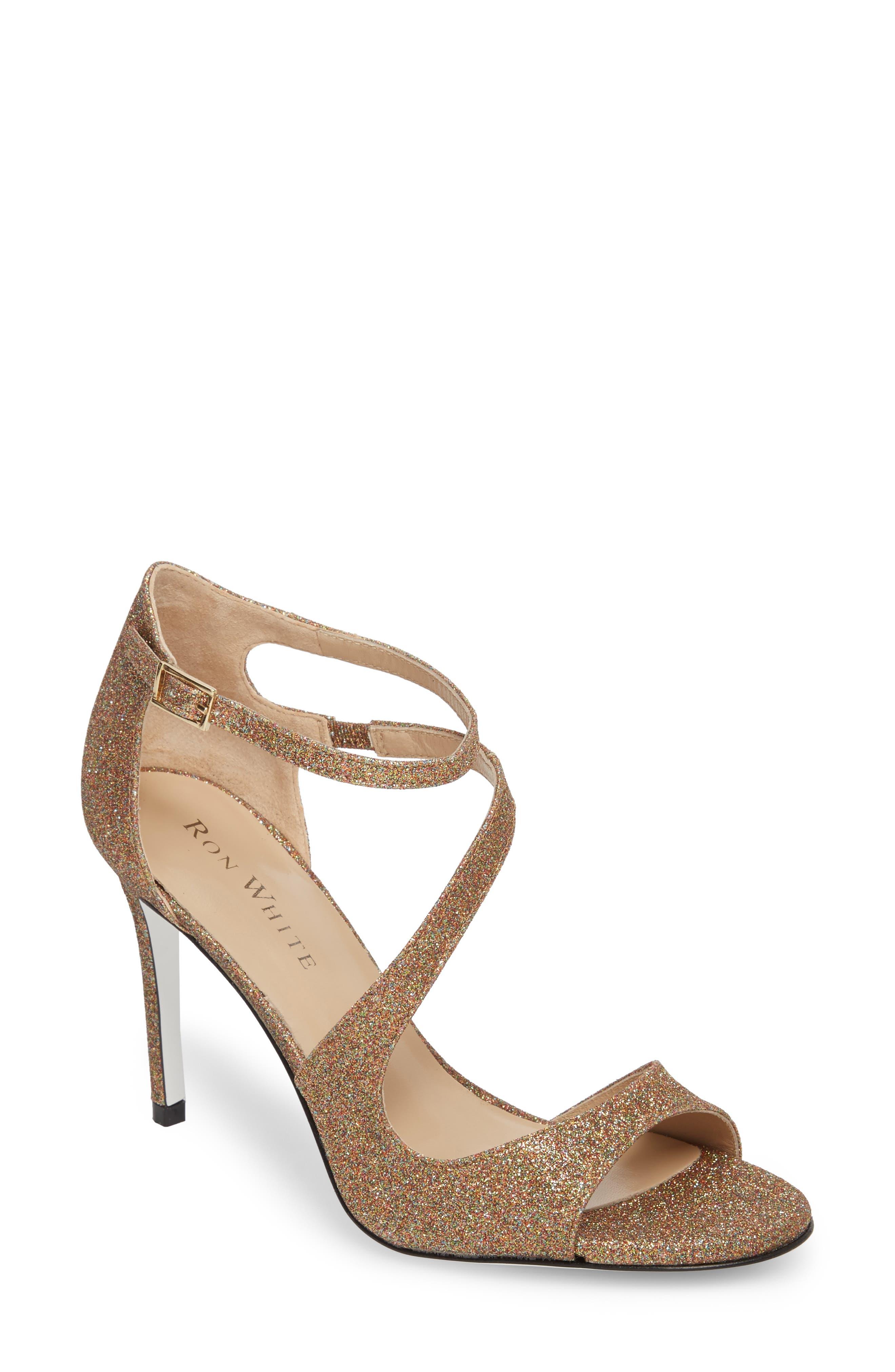 Alternate Image 1 Selected - Ron White Vallie Glitter Sandal (Women)