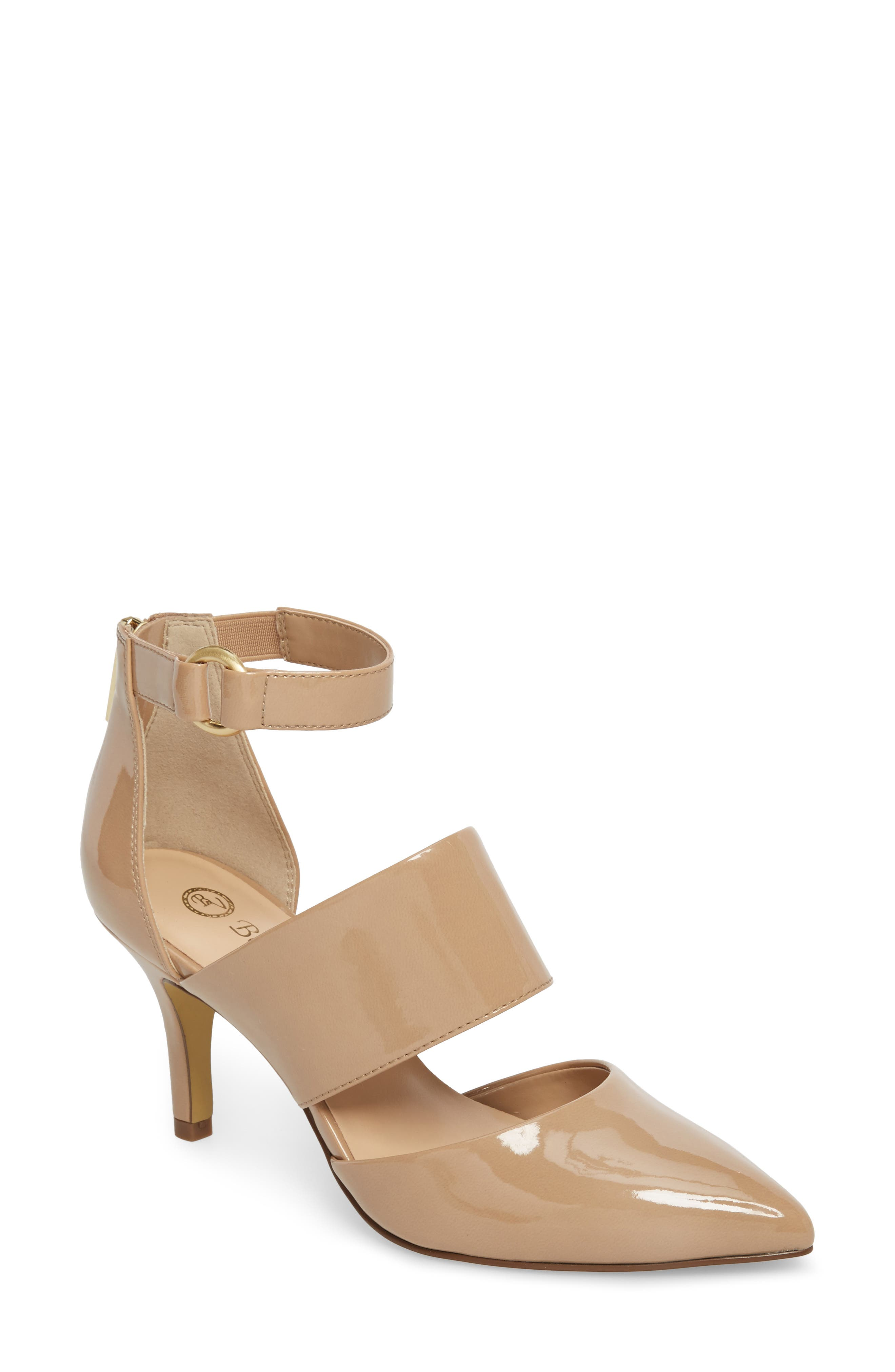 Diana II Pump,                             Main thumbnail 1, color,                             Nude Patent