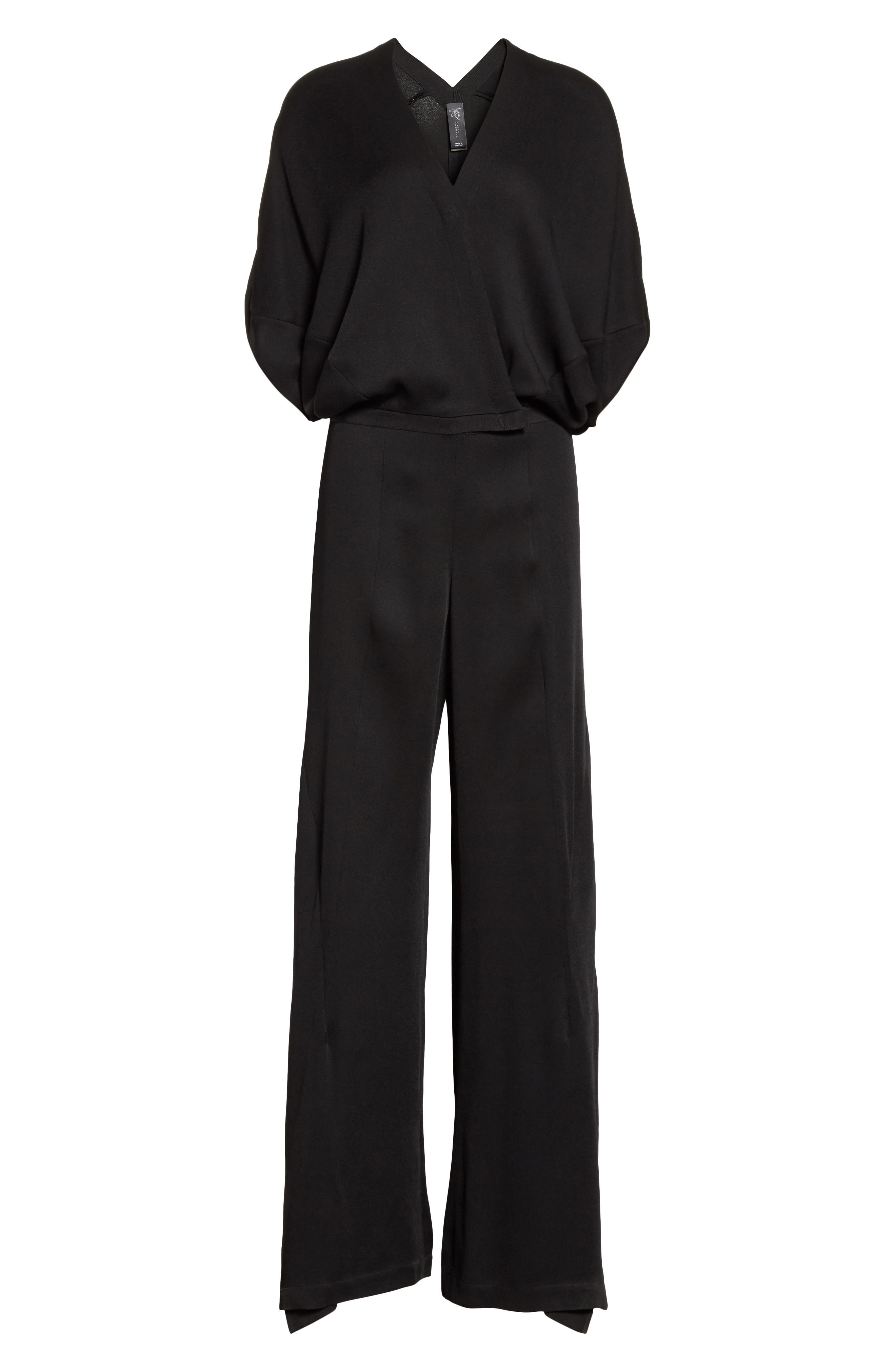 Wide Leg Jumpsuit,                             Alternate thumbnail 7, color,                             Black