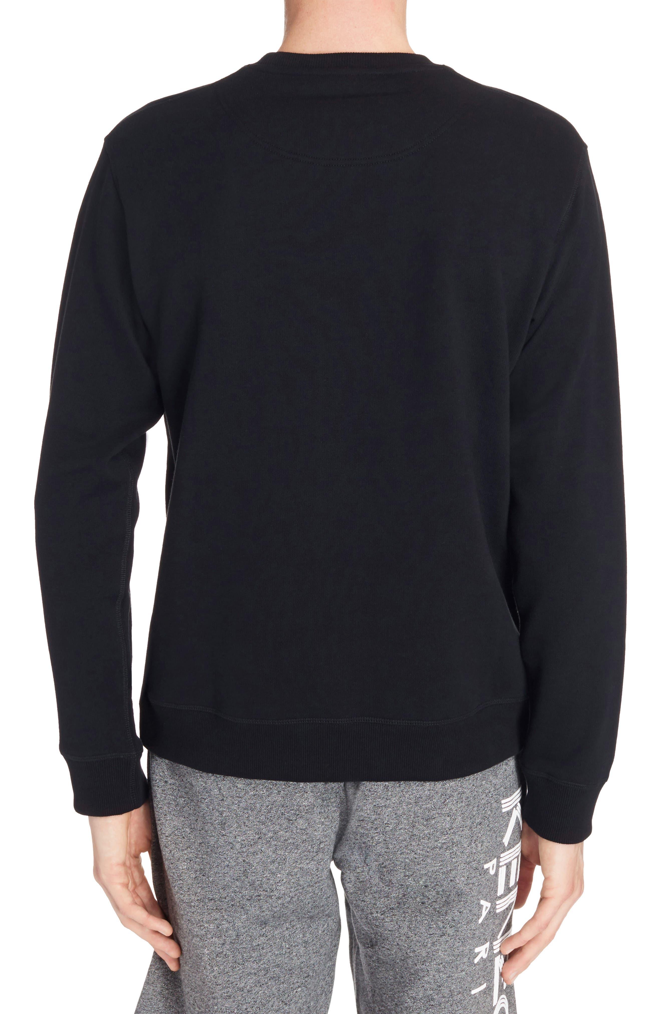 Embroidered Eye Sweatshirt,                             Alternate thumbnail 2, color,                             Black