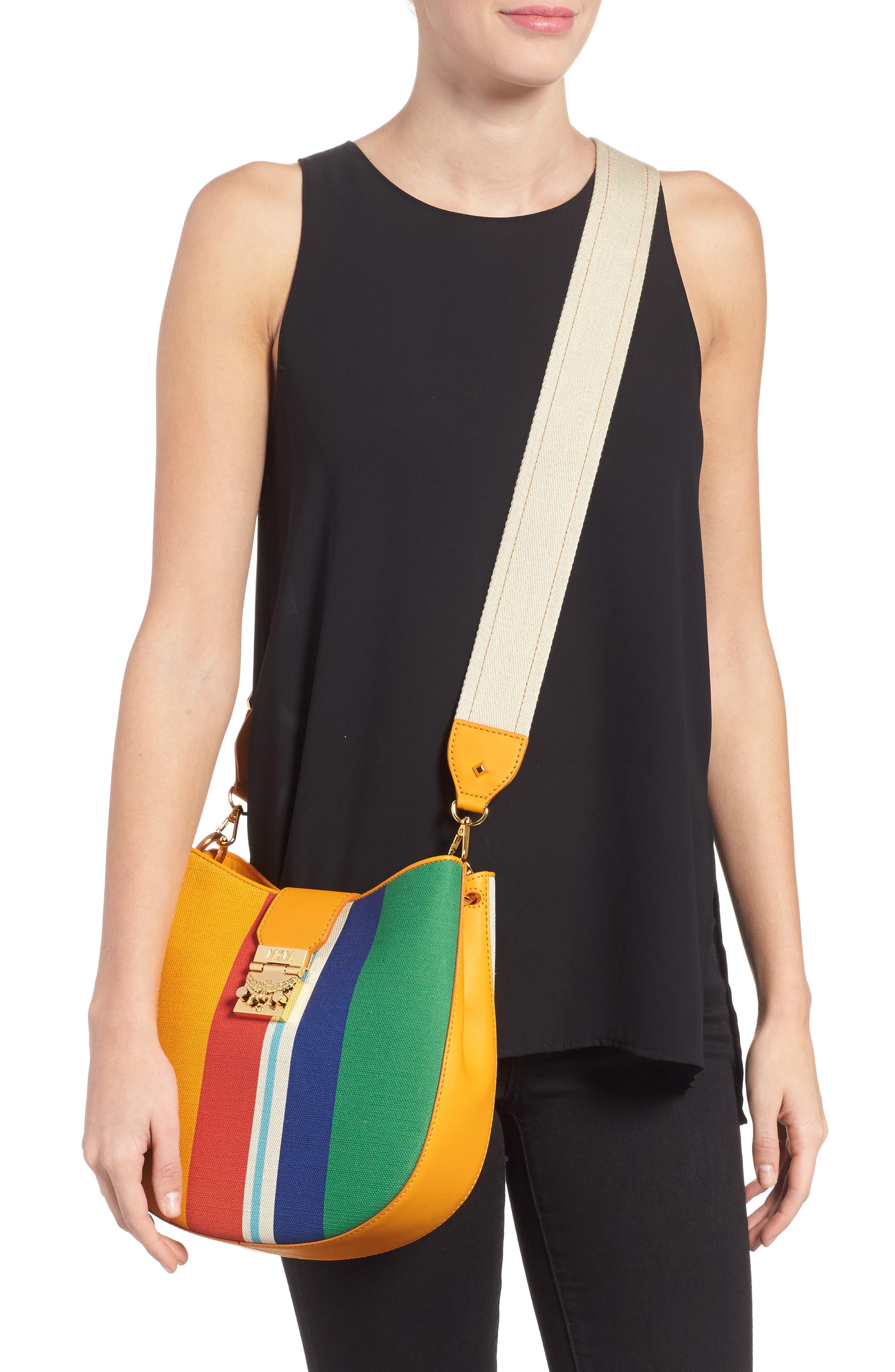 Medium Patricia Canvas Hobo Bag,                             Alternate thumbnail 2, color,                             Rainbow Yellow