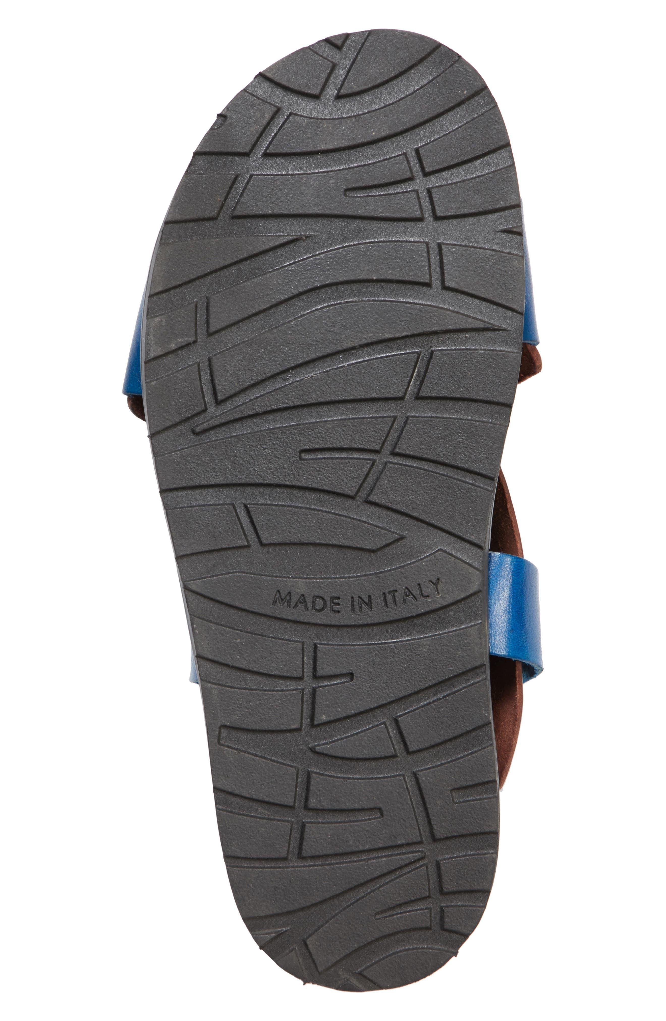 Bicolor Strappy Sandal,                             Alternate thumbnail 6, color,                             5Marsala/Denim