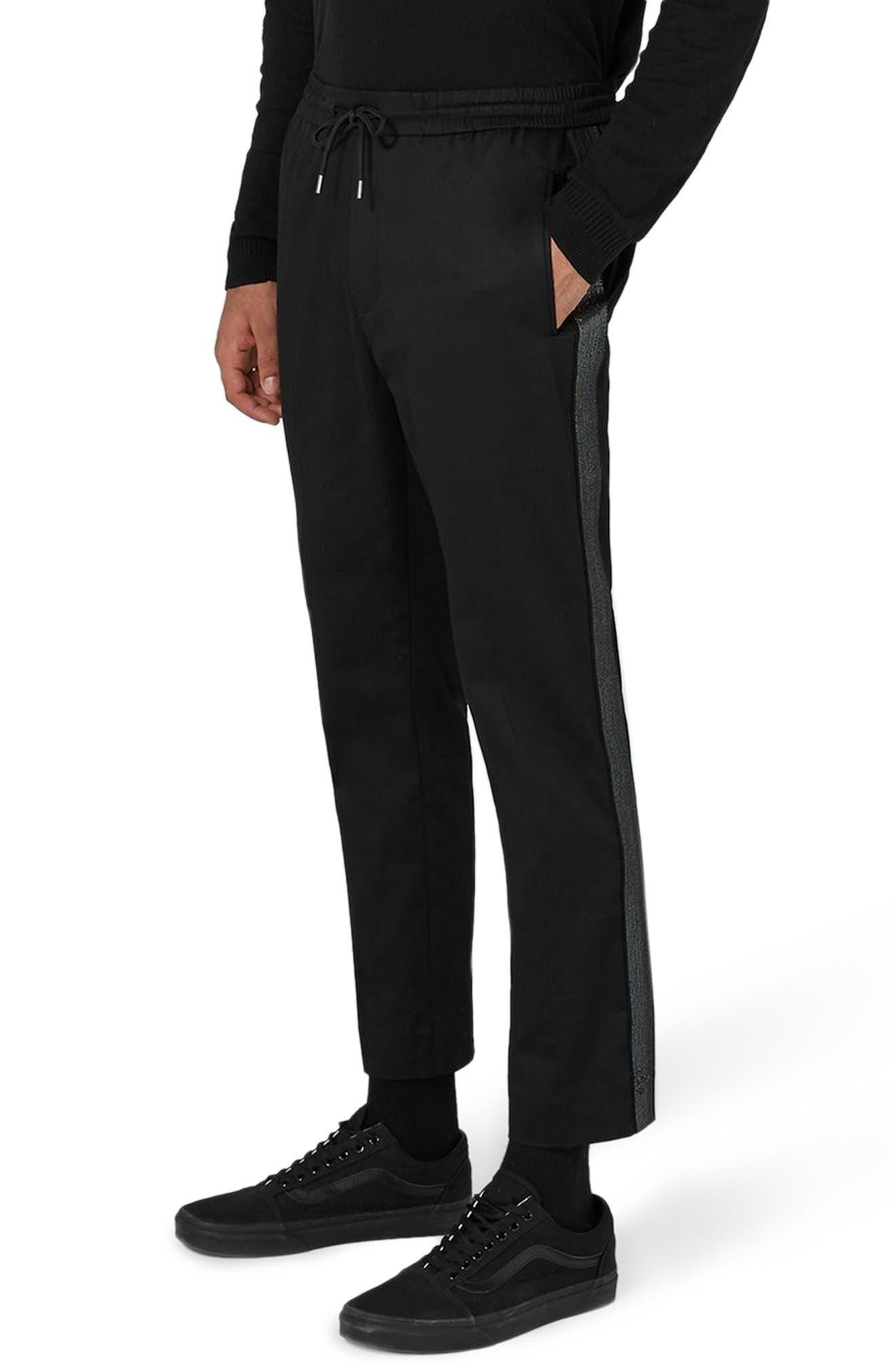 Jazzy Side Stripe Jogger Pants,                             Main thumbnail 1, color,                             Black Multi
