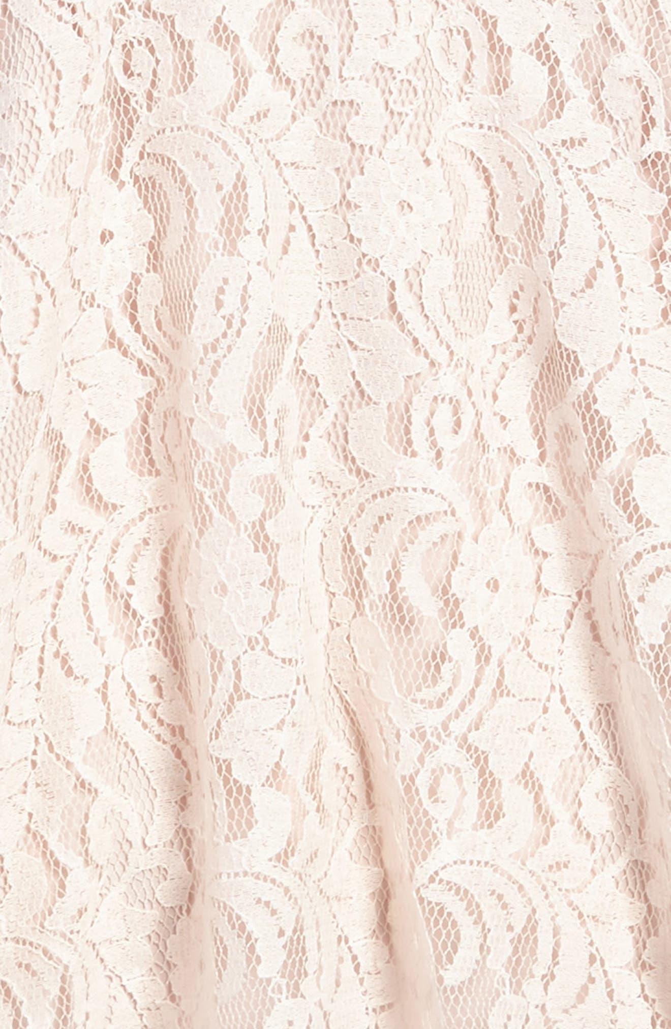 Lace Overlay Sundress,                             Alternate thumbnail 3, color,                             Peach