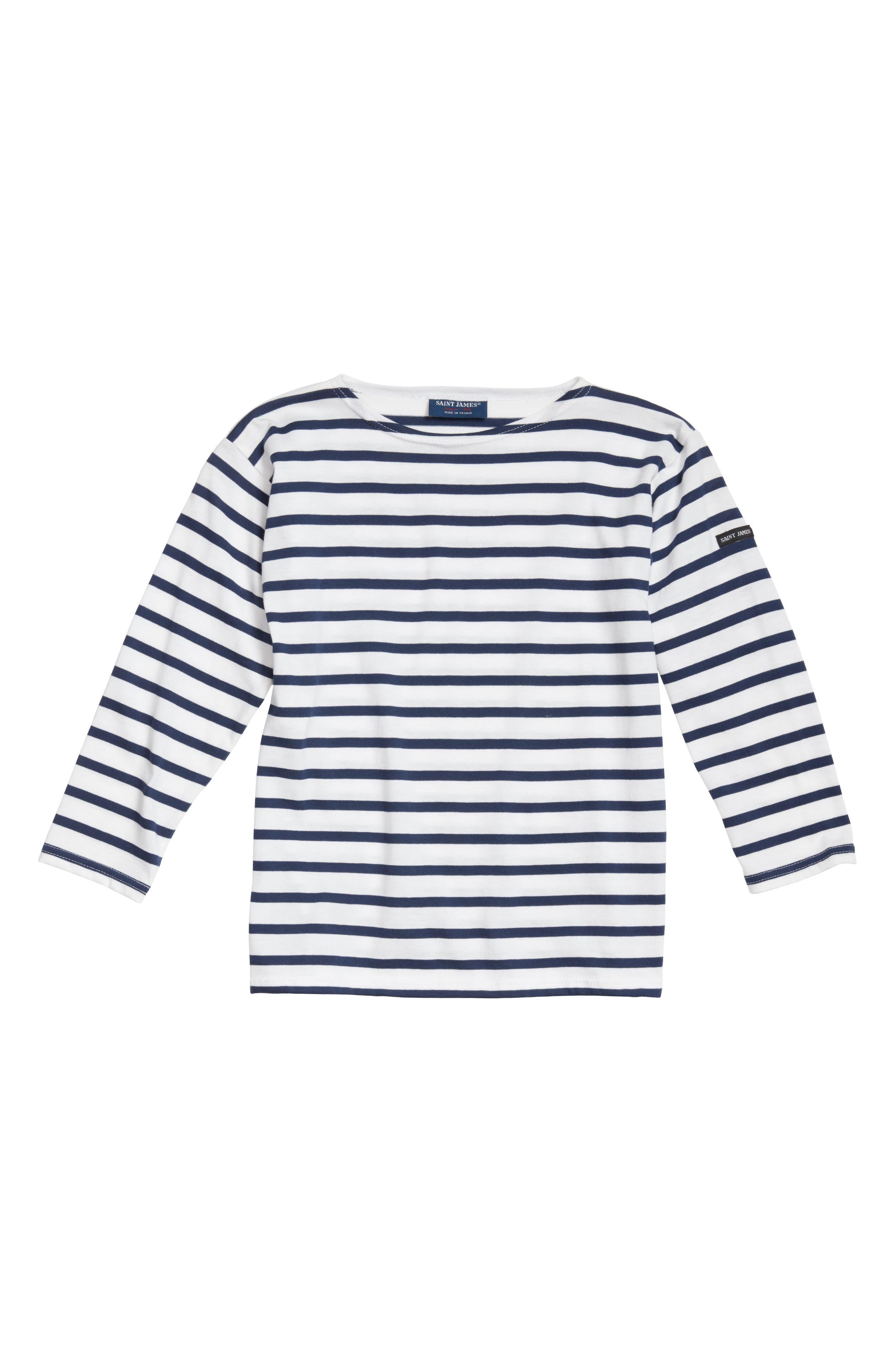 Alternate Image 1 Selected - Saint James Minquiers Kids Striped Sailor Shirt (Toddlers, Little Kids & Big Kids)