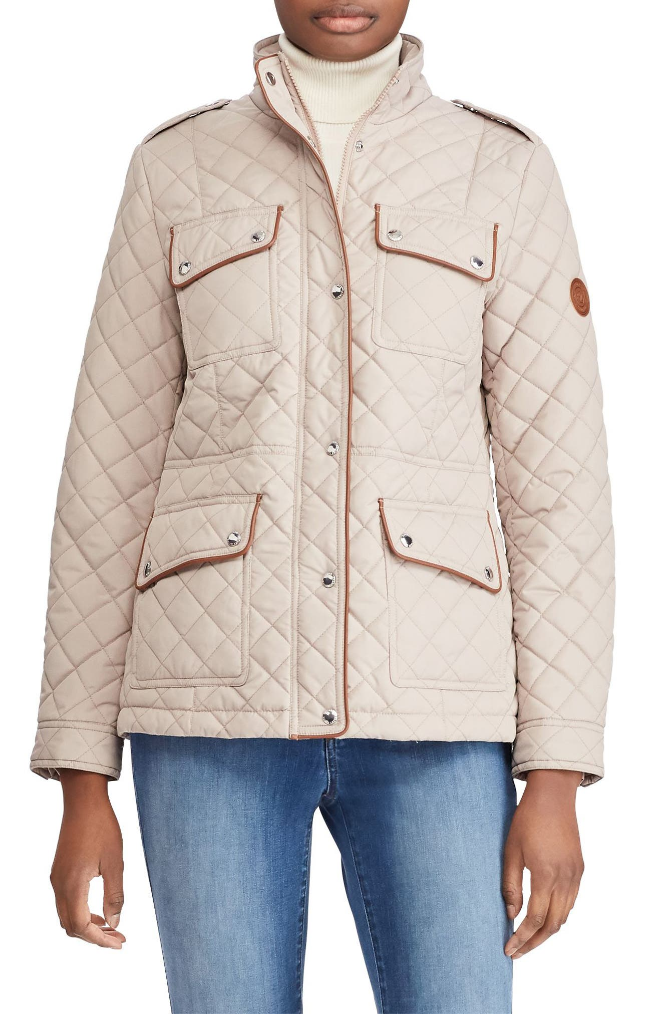 Quilted Field Jacket,                             Main thumbnail 1, color,                             Luxe Chino