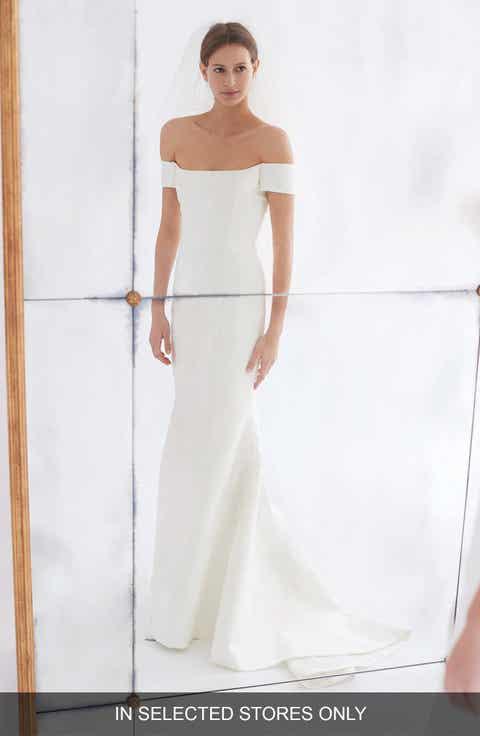 Carolina Herrera Greta Off The Shoulder Trumpet Gown